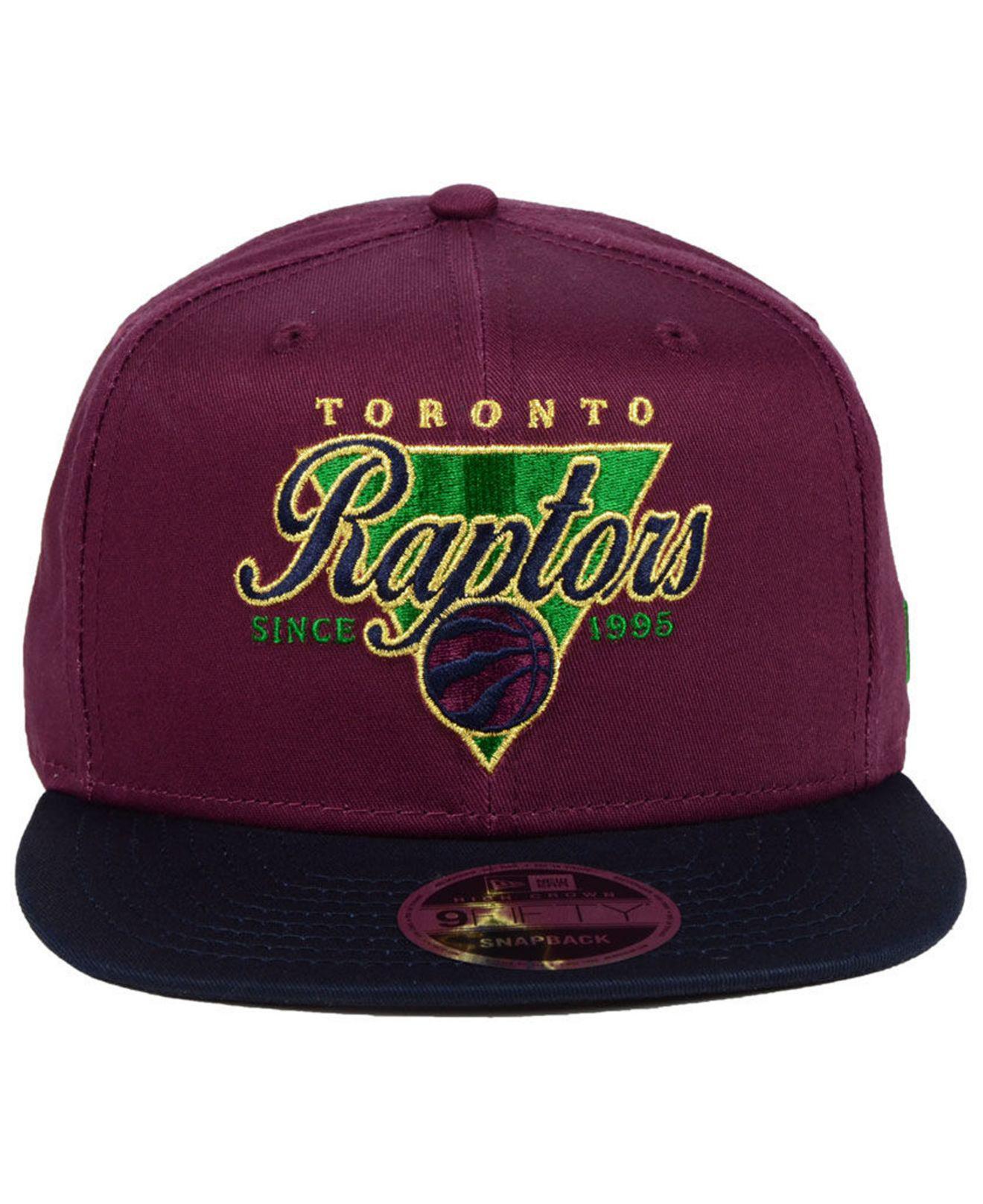 cf0f1e383dd KTZ Toronto Raptors 90s Throwback 9fifty Snapback Cap in Purple for ...