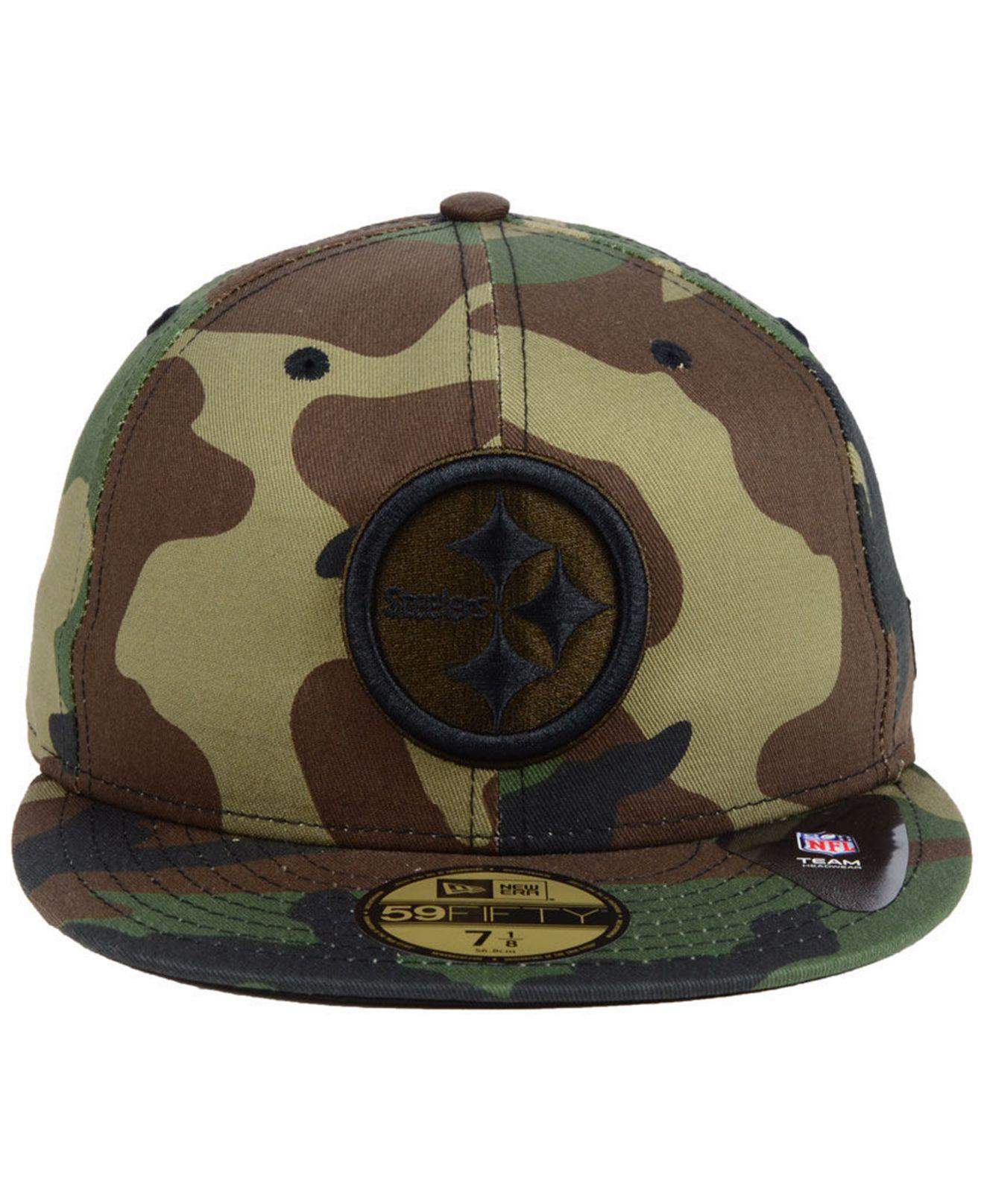 ... store lyst ktz pittsburgh steelers woodland prism pack 59fifty fitted  cap in green for men 5edb4 553041818