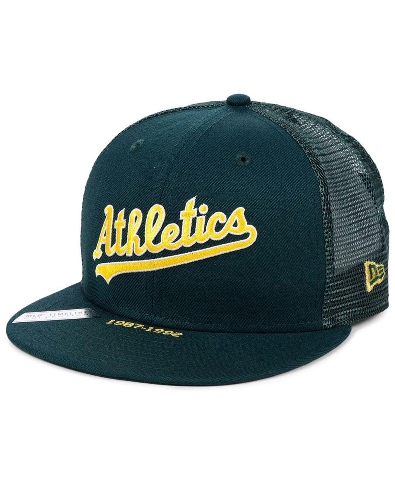 timeless design e0cae ea8be KTZ. Men s Green Oakland Athletics Timeline Collection 9fifty Cap