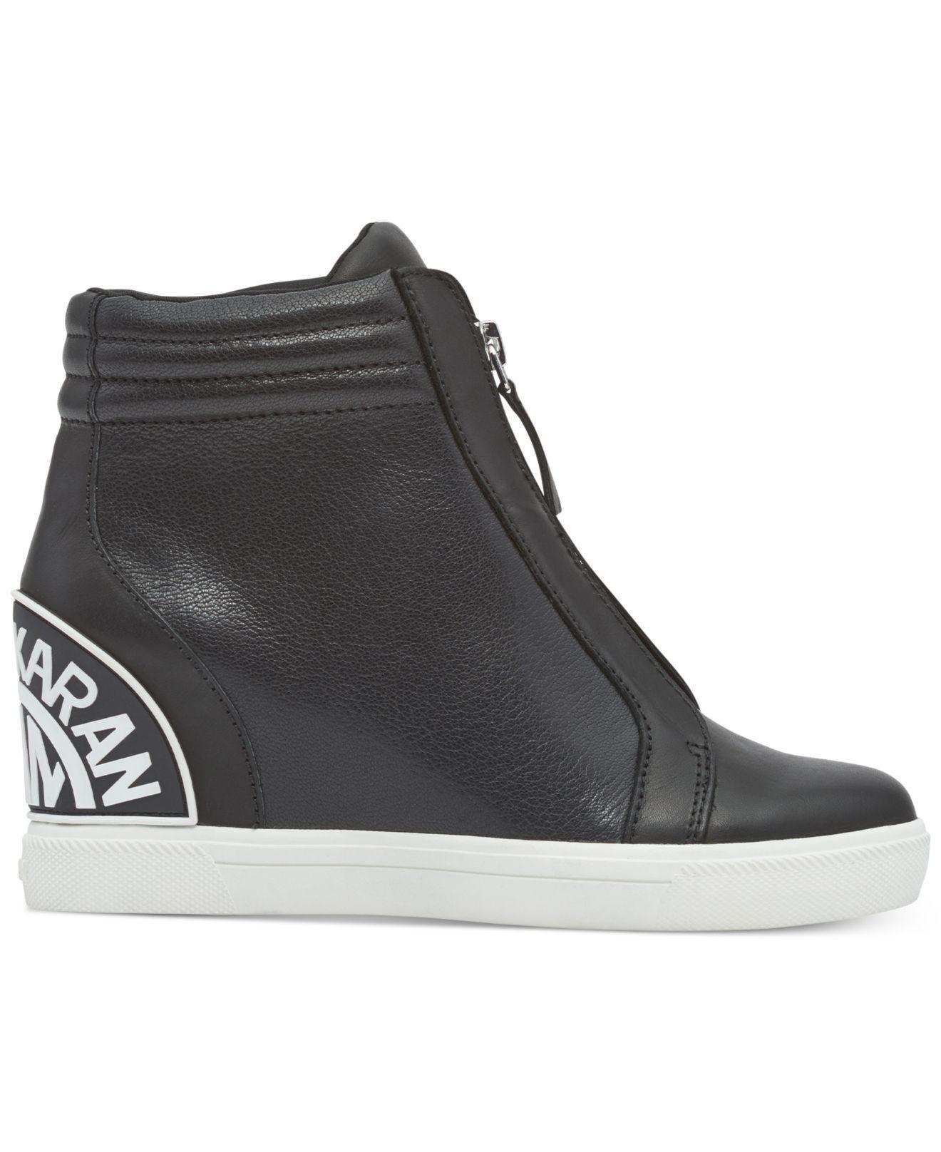 0c1eec17ffa DKNY - Black Connie Slip-on Wedge Sneakers, Created For Macy's - Lyst. View  fullscreen