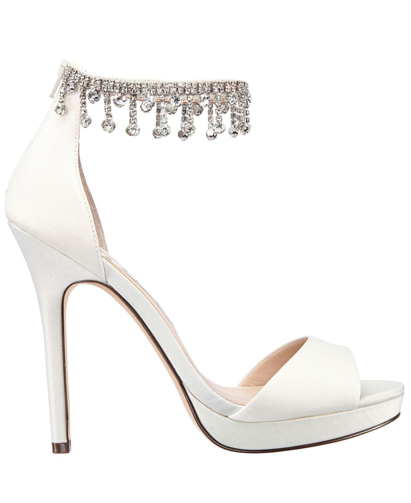 e47d86d225b Lyst - Nina Feya Platform Dress Sandals in White