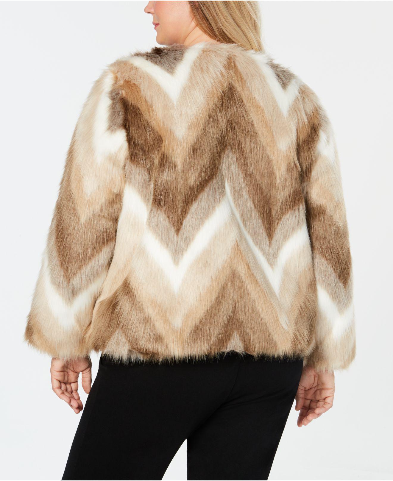 bc100d536de Lyst - Alfani Plus Size Faux-fur Coat