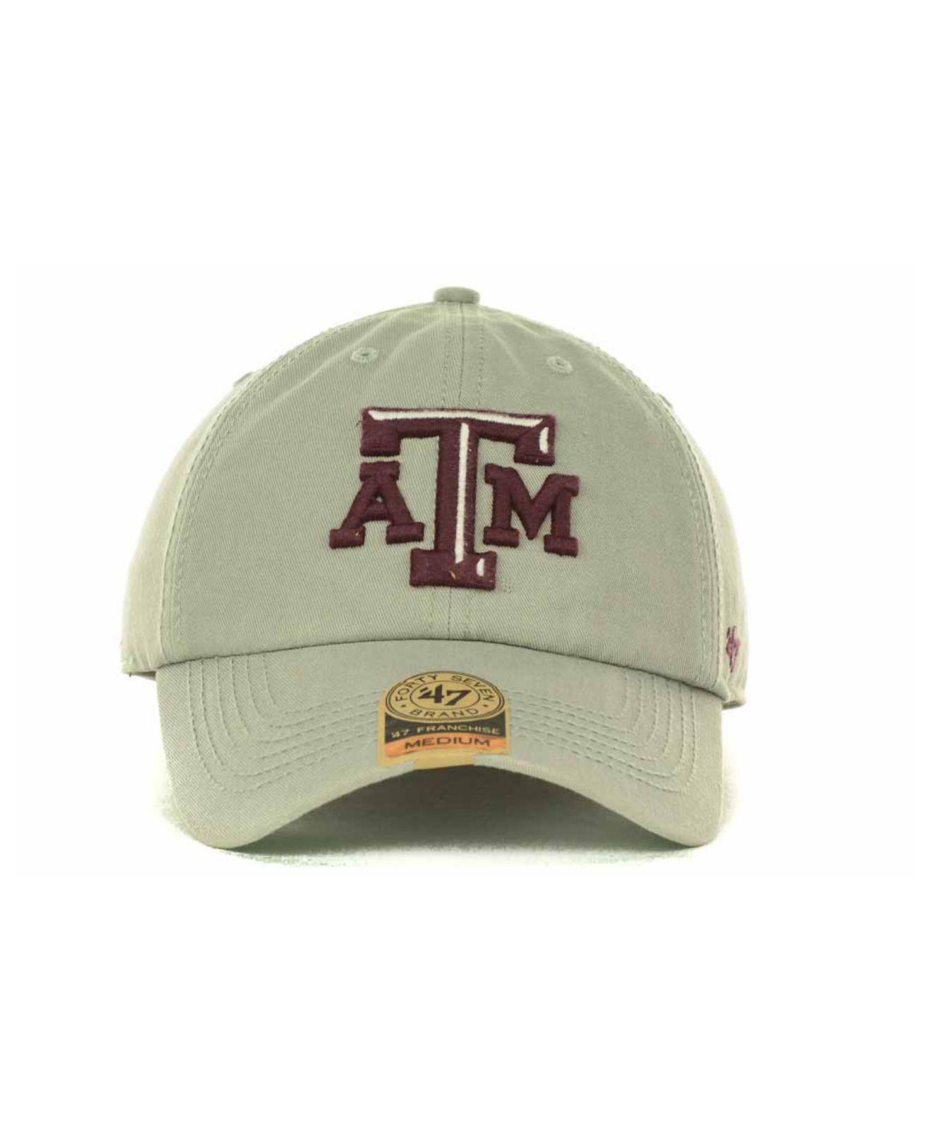 brand new 3765c 5abdf 47 Brand - Gray Texas A m Aggies Franchise Cap for Men - Lyst. View  fullscreen