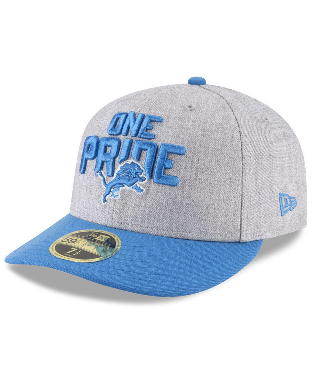 d21c320d Lyst - KTZ Detroit Lions Draft Low Profile 59fifty Fitted Cap in ...