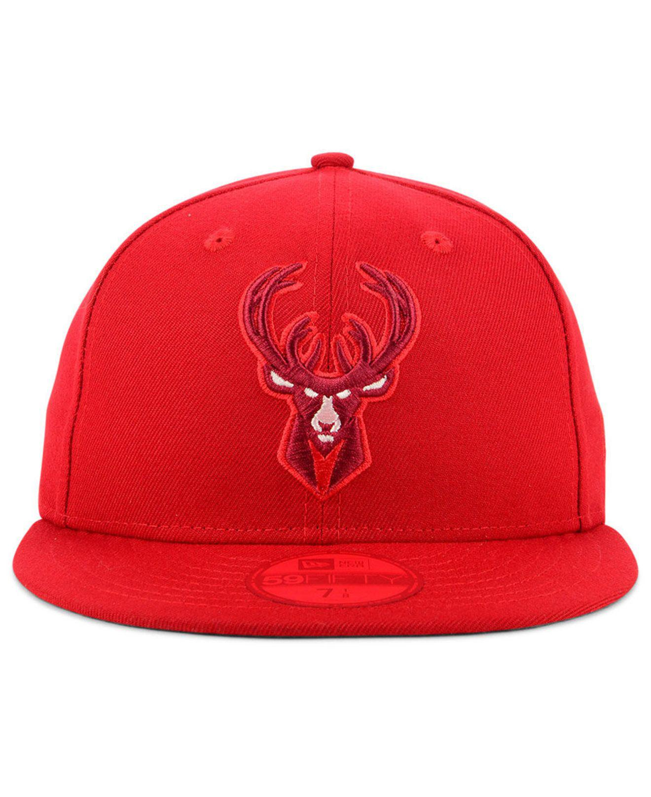 official photos 11e63 90030 ... czech lyst ktz milwaukee bucks color prism pack 59fifty fitted cap in  red for men 0e5d9