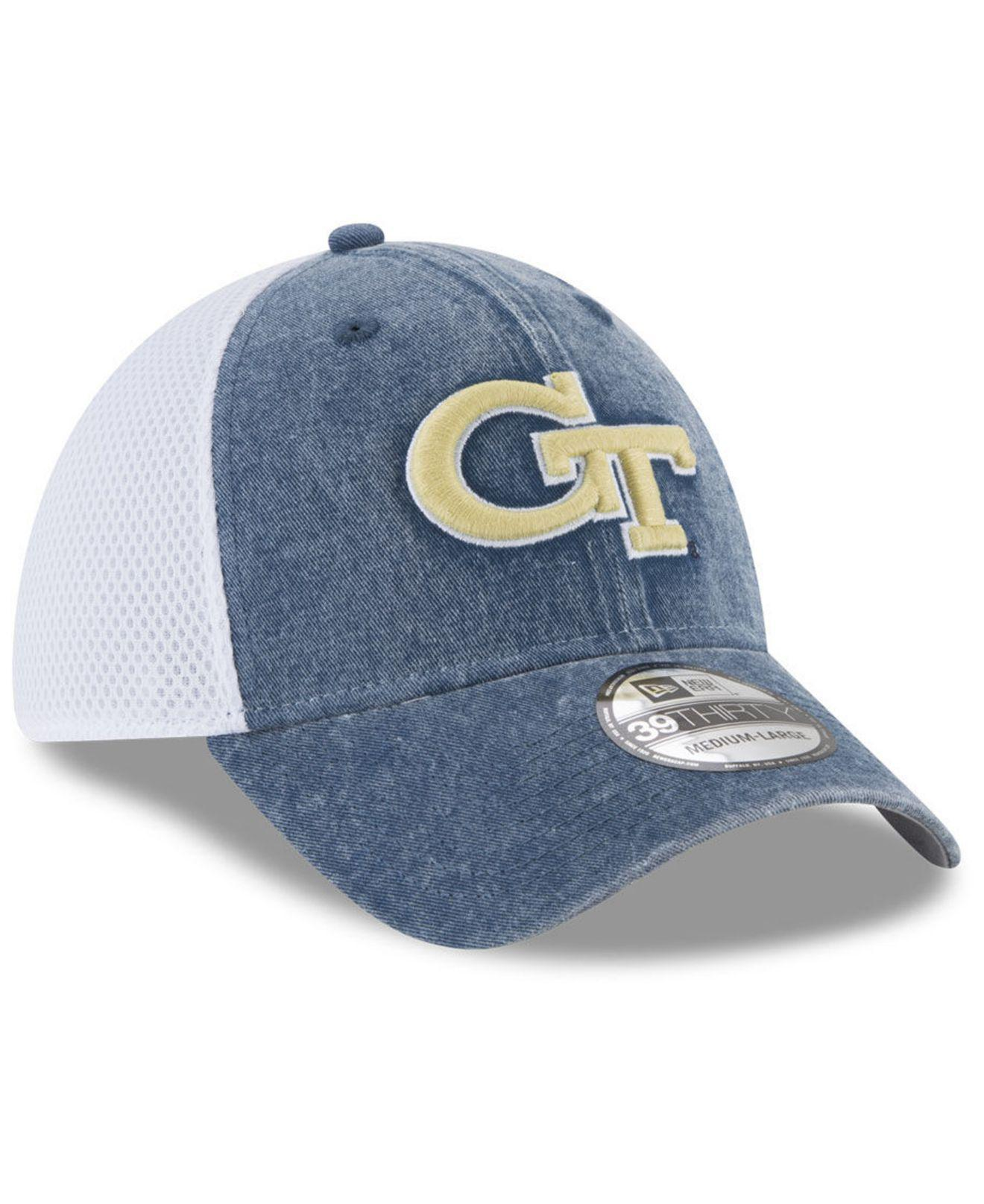 uk availability 4eaf2 8f54e ... where to buy georgia tech washed neo 39thirty cap for men lyst. view  fullscreen 5d762