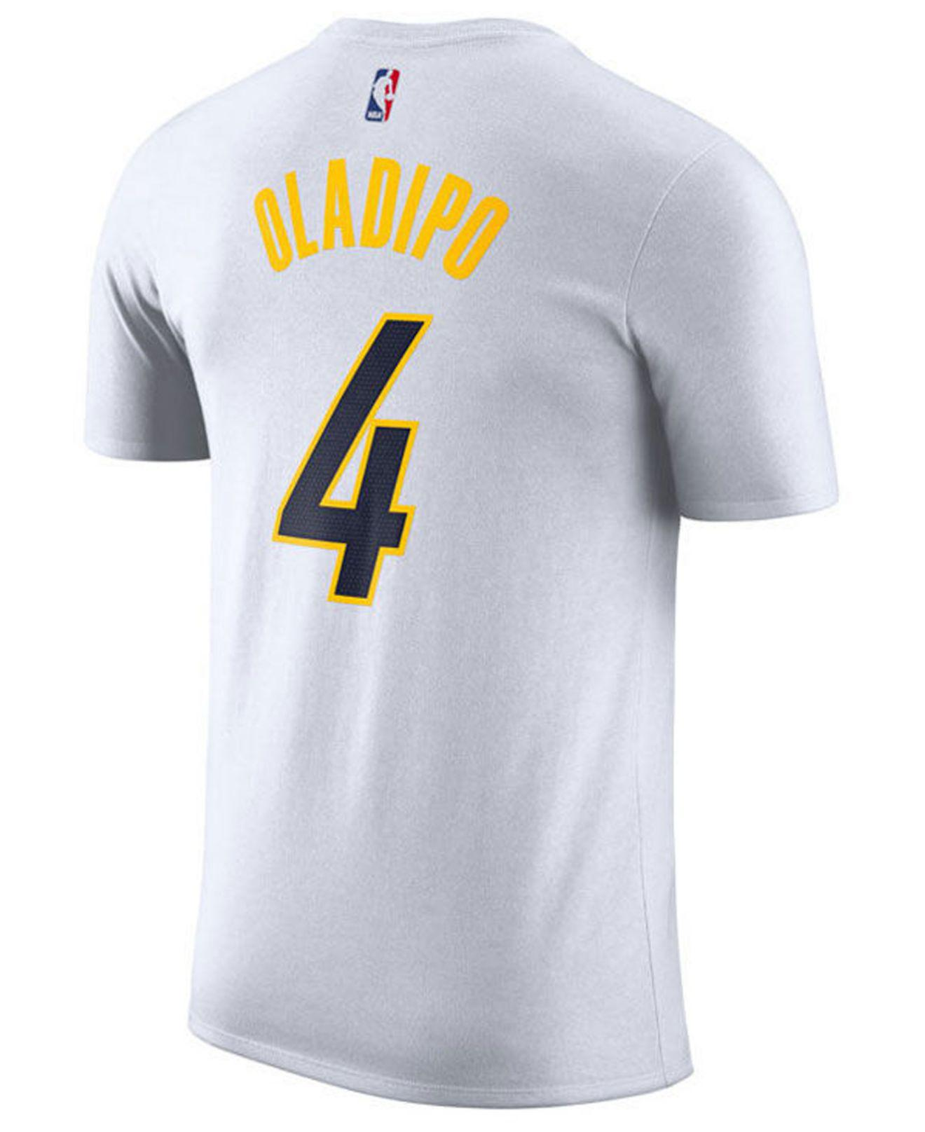 e143057bbf1 Lyst - Nike Victor Oladipo Indiana Pacers Earned Edition Player T-shirt in  White for Men