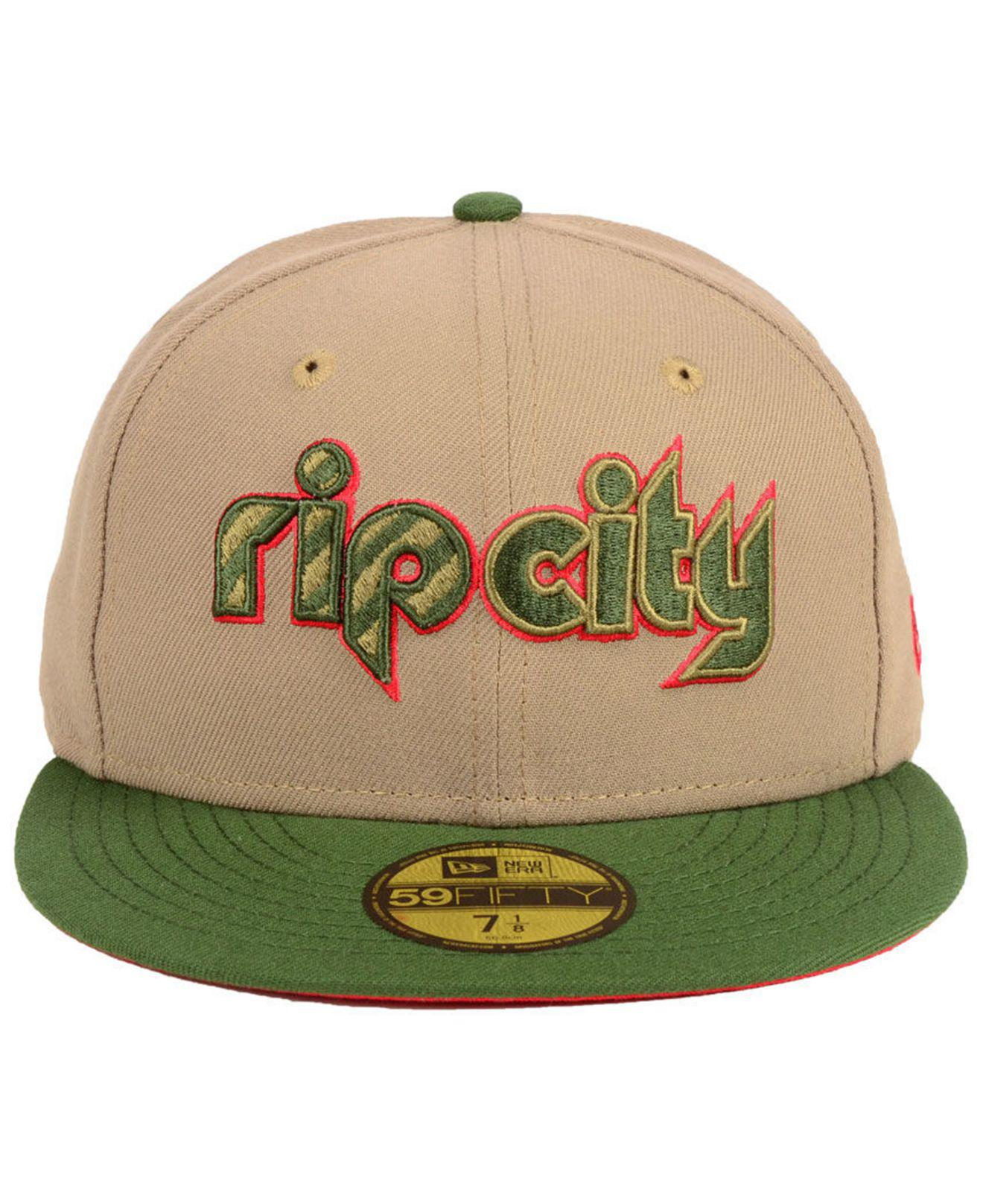 the latest 8d50f 8baba ... germany lyst ktz portland trail blazers fall 2 tone combo 59fifty  fitted cap in green for