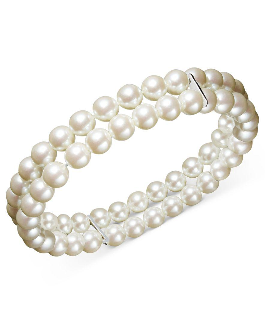 Charter Club Two Row Simulated Pearl 6 Mm In White Lyst