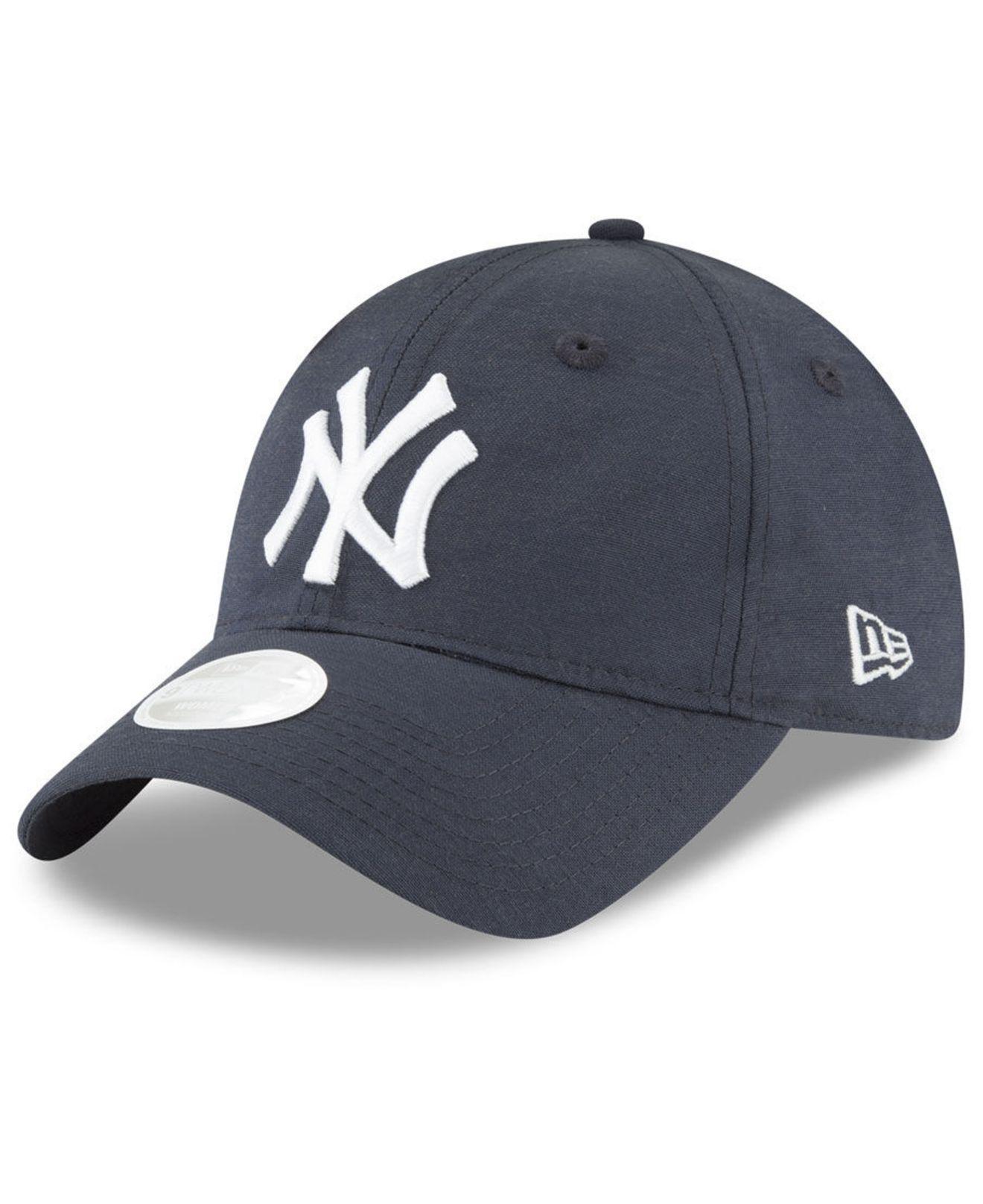 0186fb467de Lyst - KTZ New York Yankees Team Linen 9twenty Strapback Cap in Blue