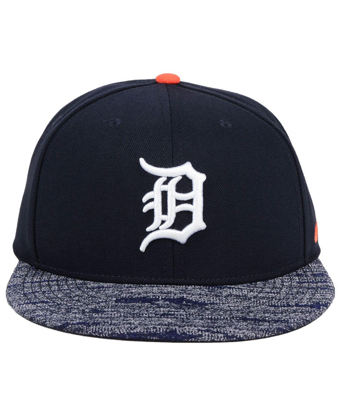 13026a8f9e1 ... release date lyst nike detroit tigers reverse new day snapback cap in  blue for men f6eb0