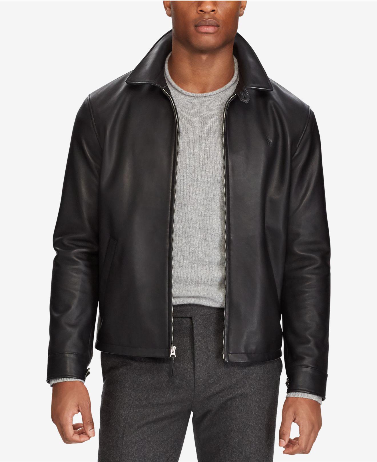 Polo Ralph Lauren. Black Men\u0027s Leather Jacket