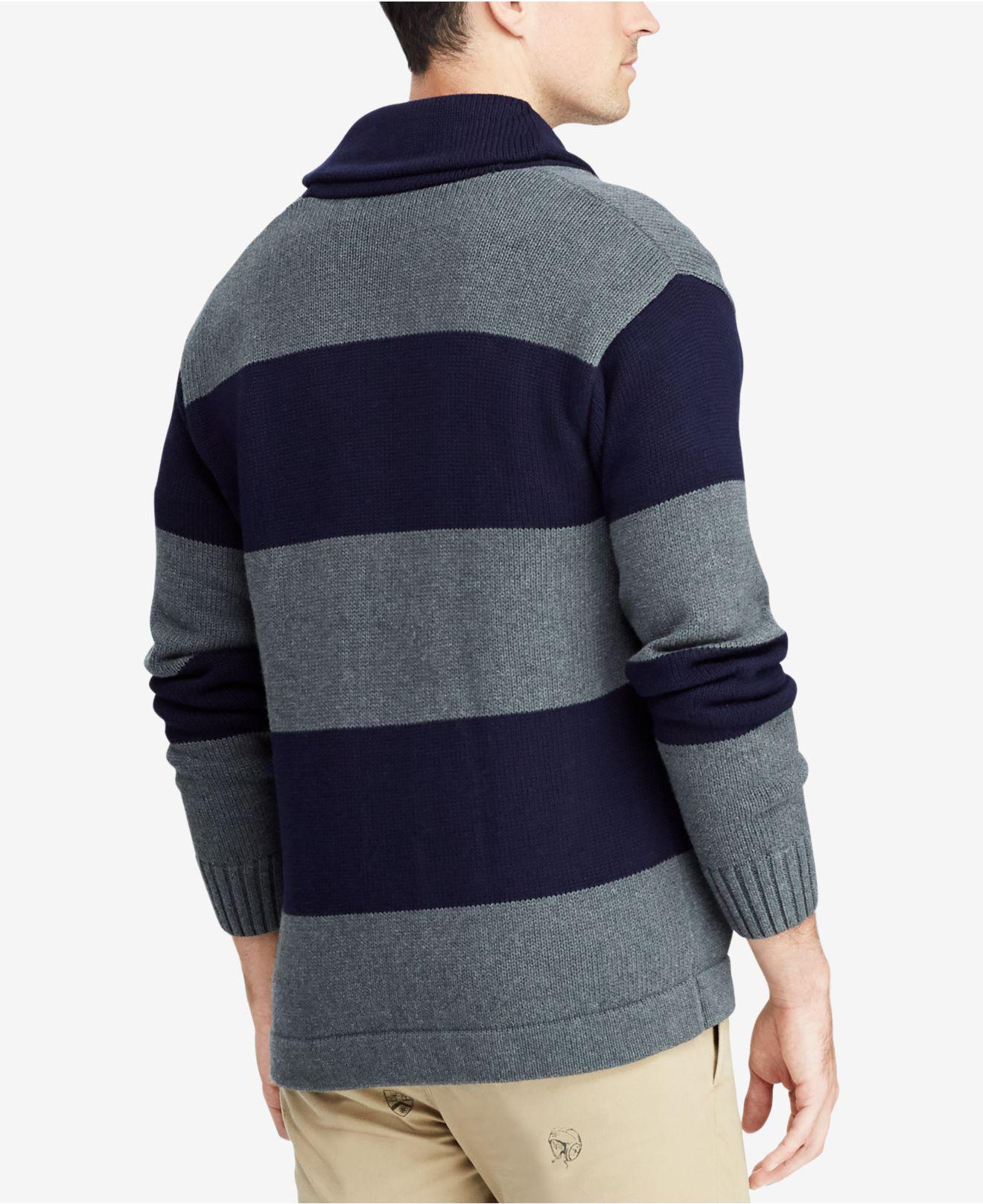 afc6ad3ac ... czech lyst polo ralph lauren shawl collar cardigan in blue for men  c4c56 d5cf5
