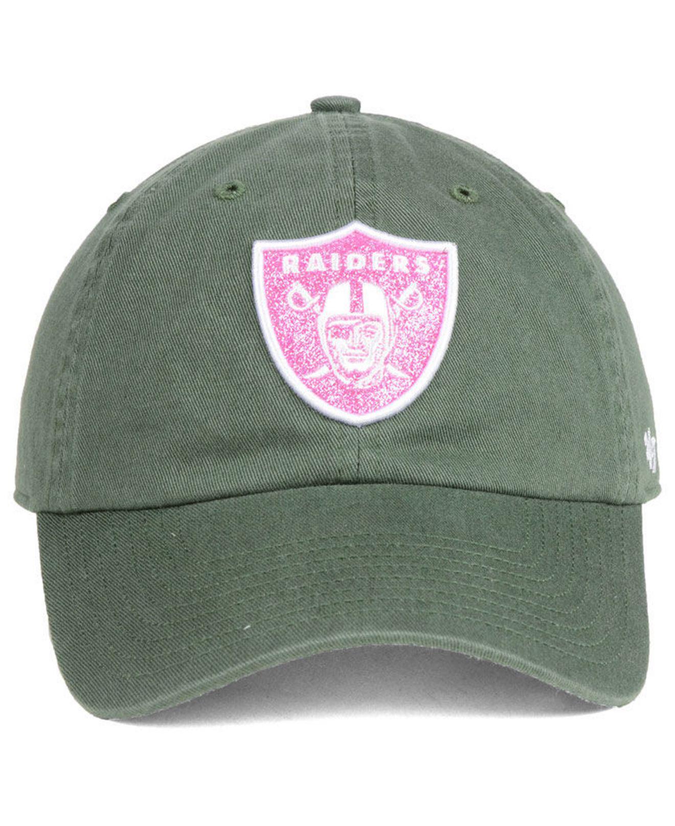 quality design b4888 5733a Lyst - 47 Brand Oakland Raiders Moss Glitta Clean Up Cap in Green