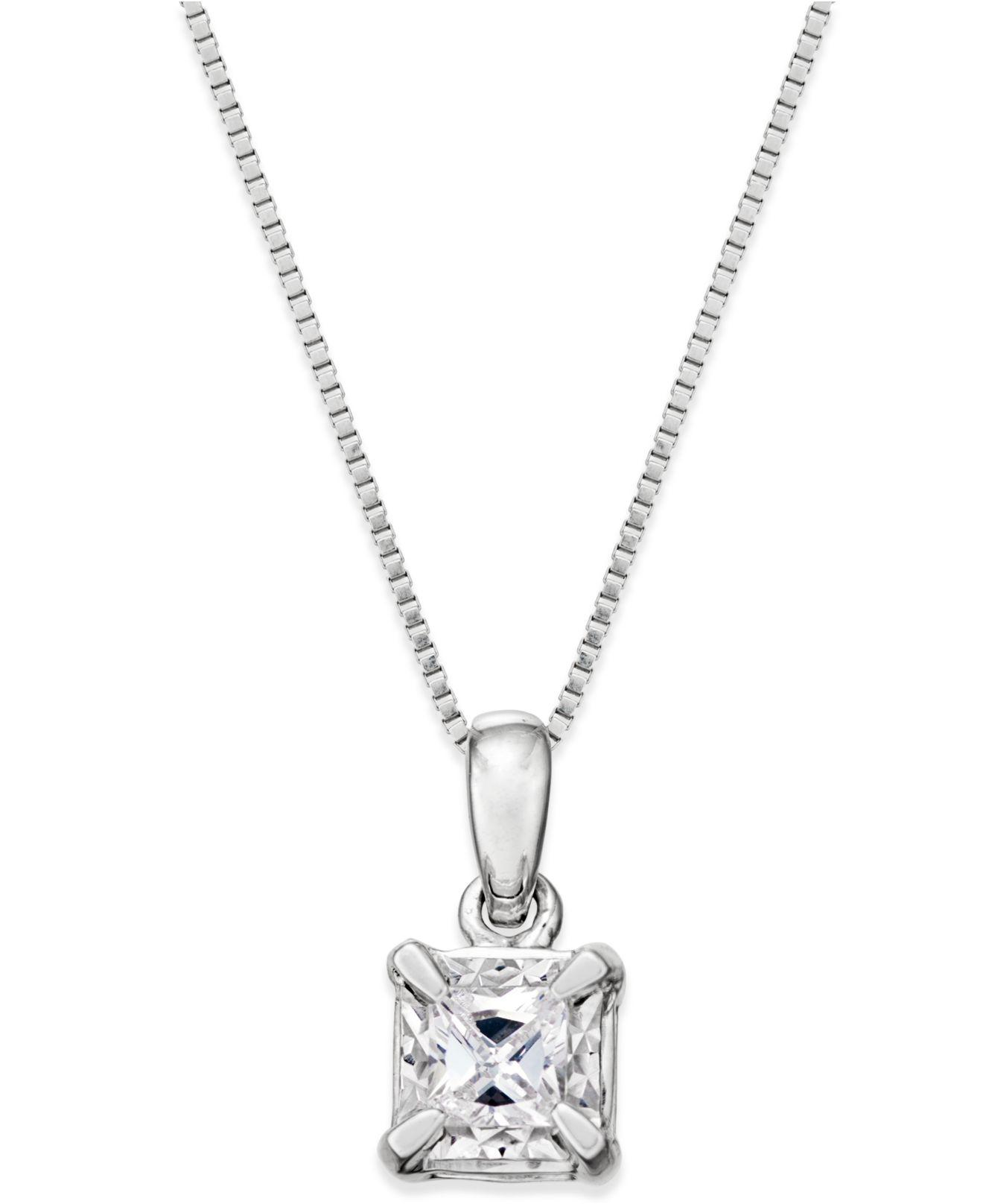 princess stone winsor pendant bishop cut single