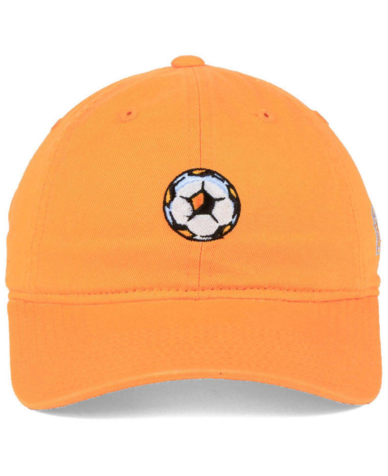 7efc1987fdf ... official store lyst adidas houston dynamo partial logo dad cap in orange  for men e70f3 731c2