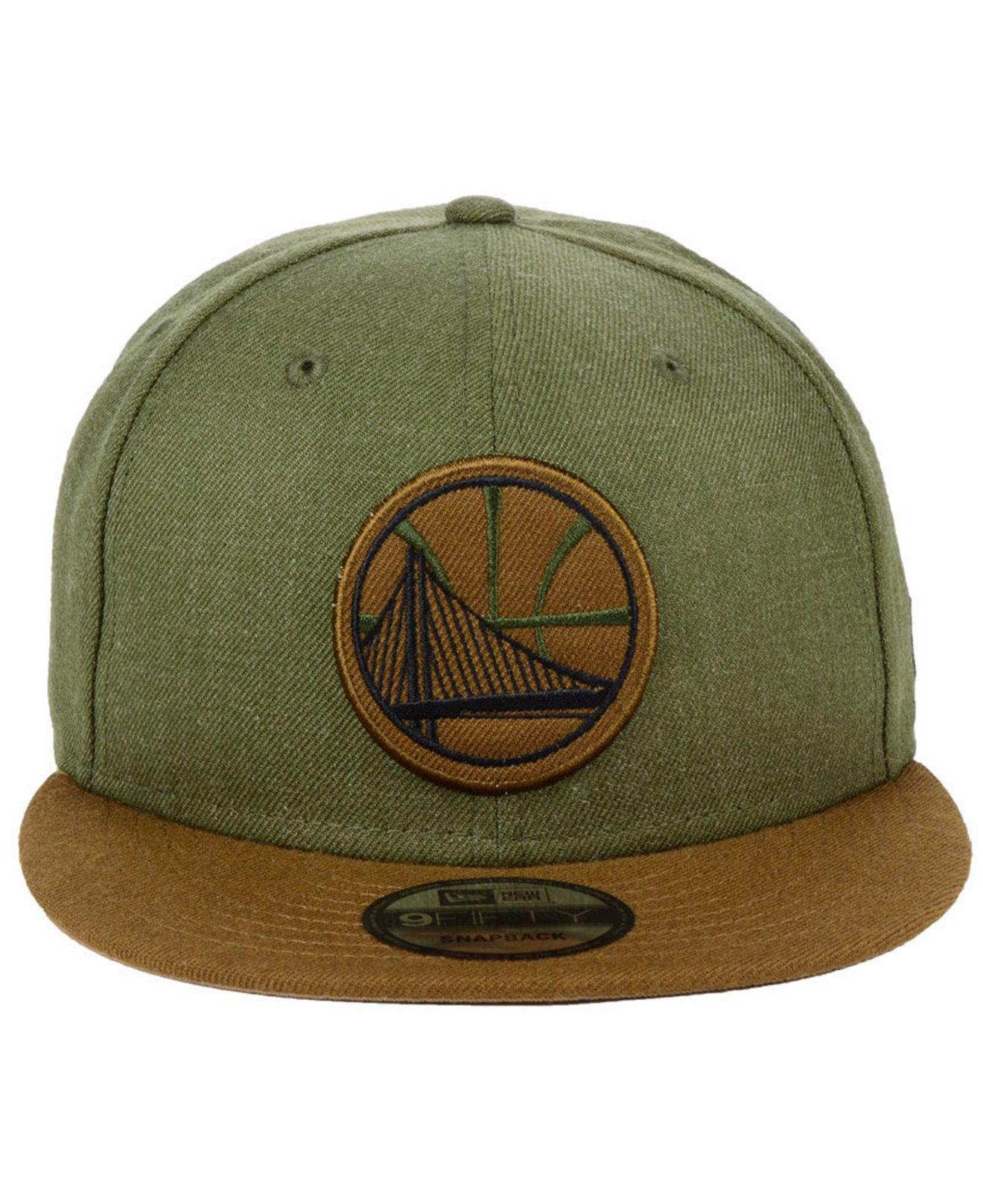 8dbe7167c3c ... new style lyst ktz golden state warriors enlisted 9fifty snapback cap  in green for men 0cdbe