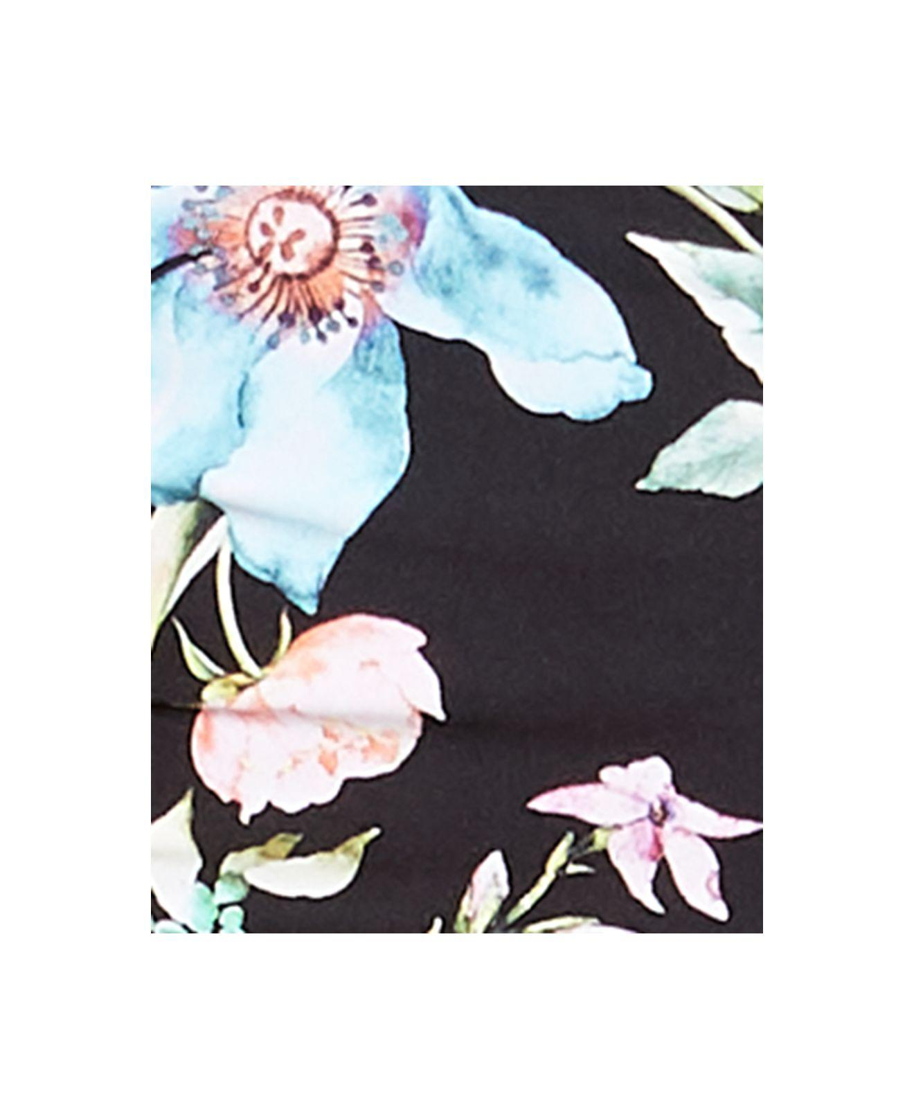 6e1479c01863d Lyst - Kenneth Cole Jardin Underwire Strappy-back Midkini Top in Black