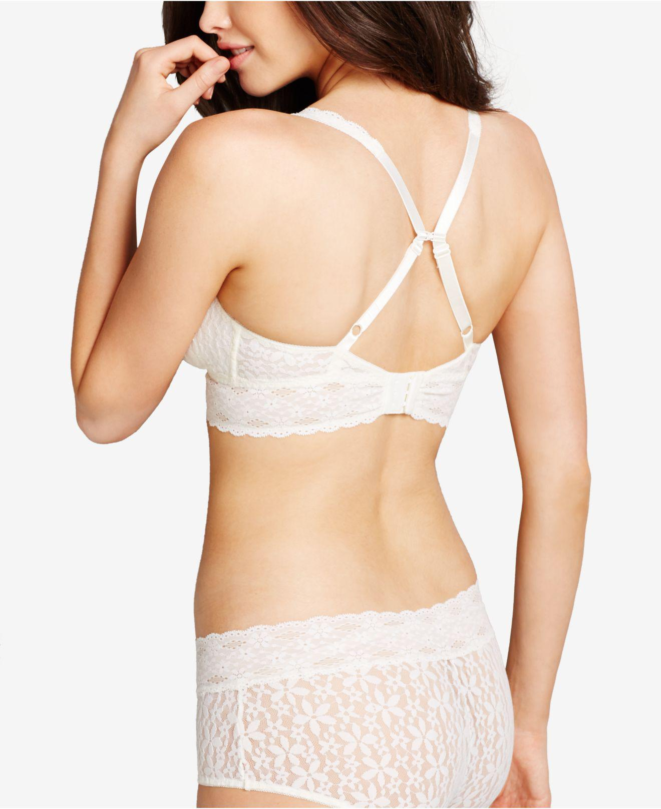 1a5f828674 Lyst - Wacoal Halo Lace Bralette in White - Save 40%