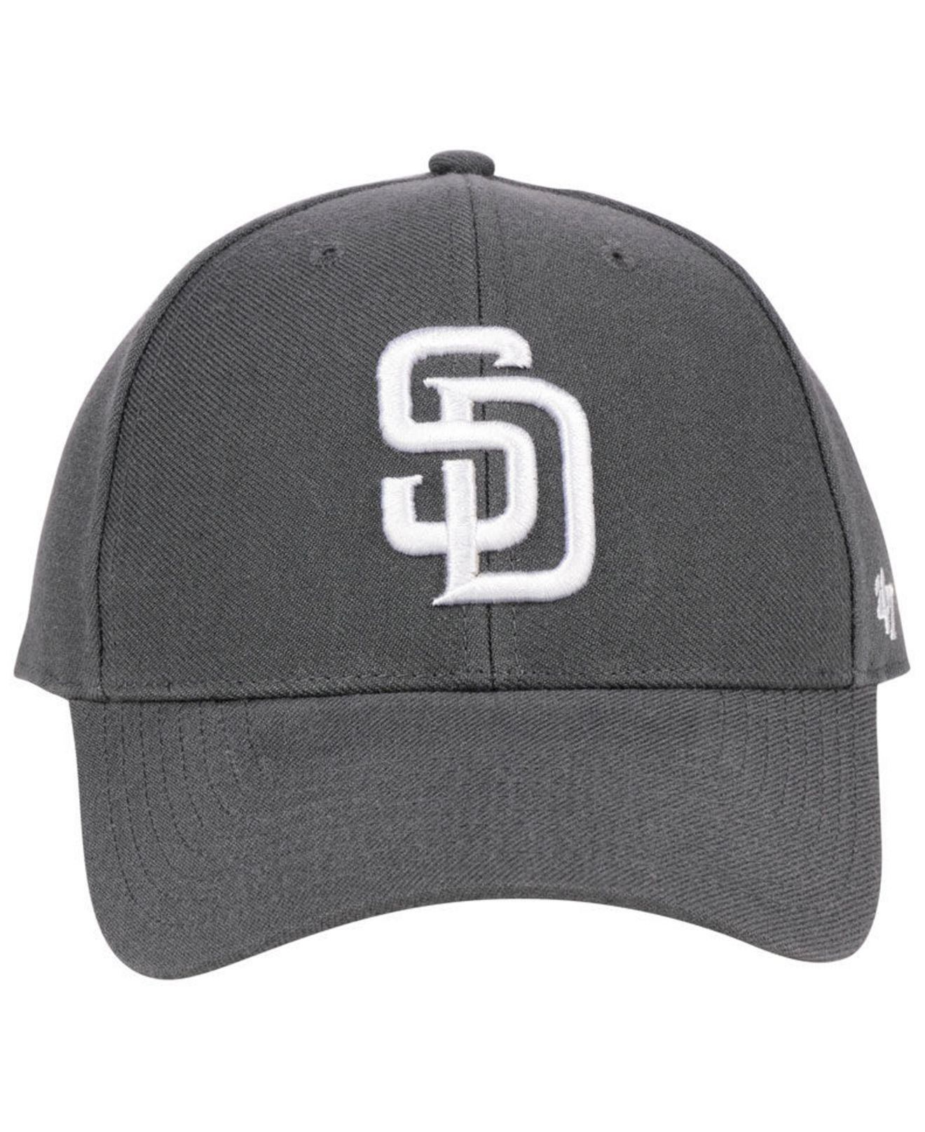 newest 42c69 2fe12 ... promo code for lyst 47 brand san diego padres charcoal mvp cap in gray  for men