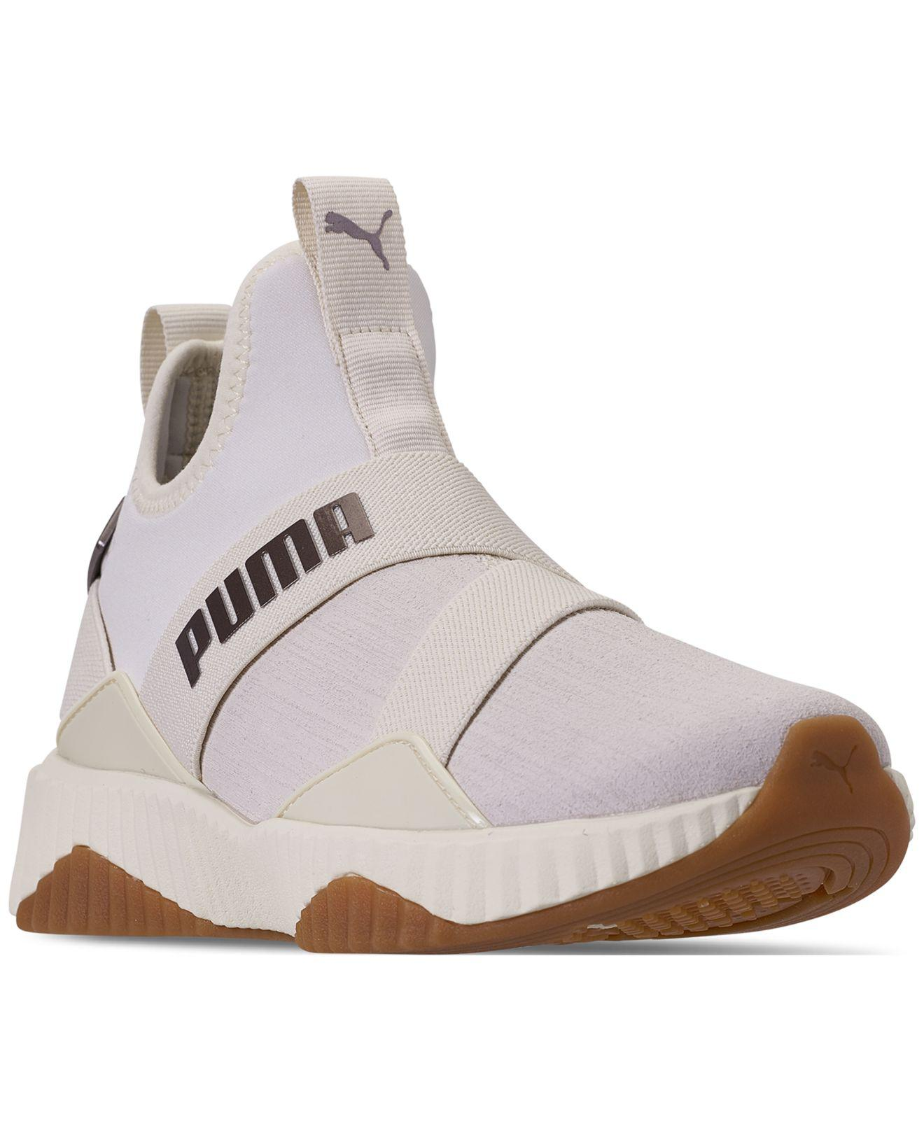 860b56047000bc Lyst - PUMA Defy Mid Luxe Casual Sneakers From Finish Line in White