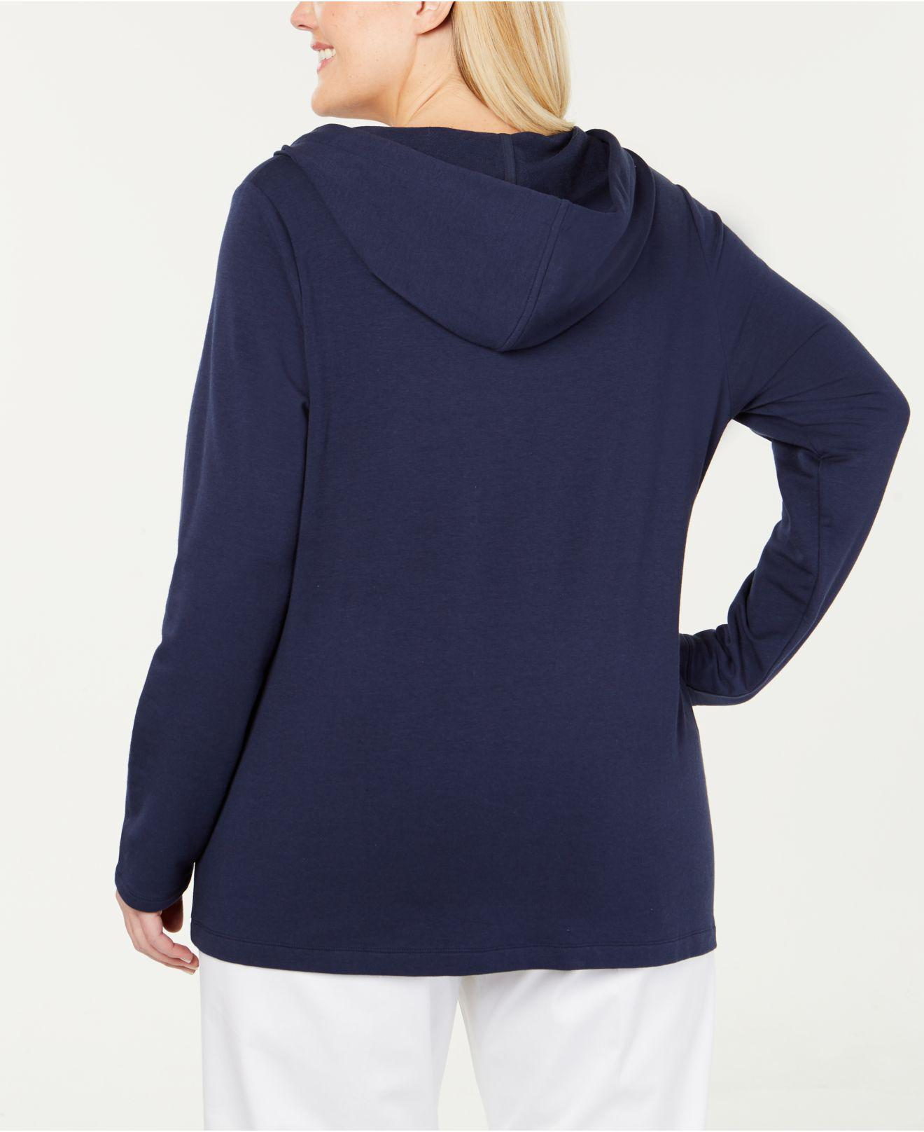 10d3d3cafe9 Lyst - Charter Club Plus Size Hoodie Tunic