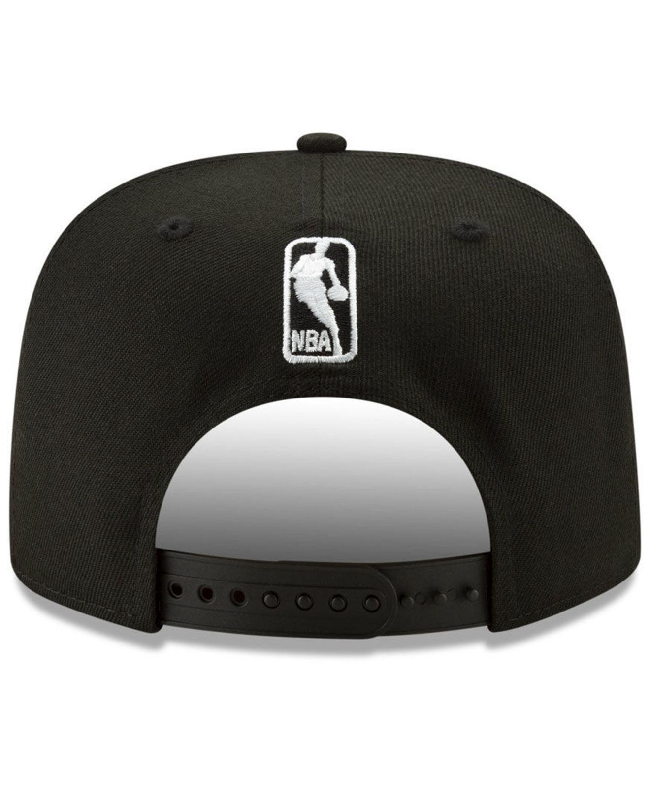 new concept 350f3 2b1a0 KTZ New Orleans Pelicans Retroword Black White 9fifty Snapback Cap ...