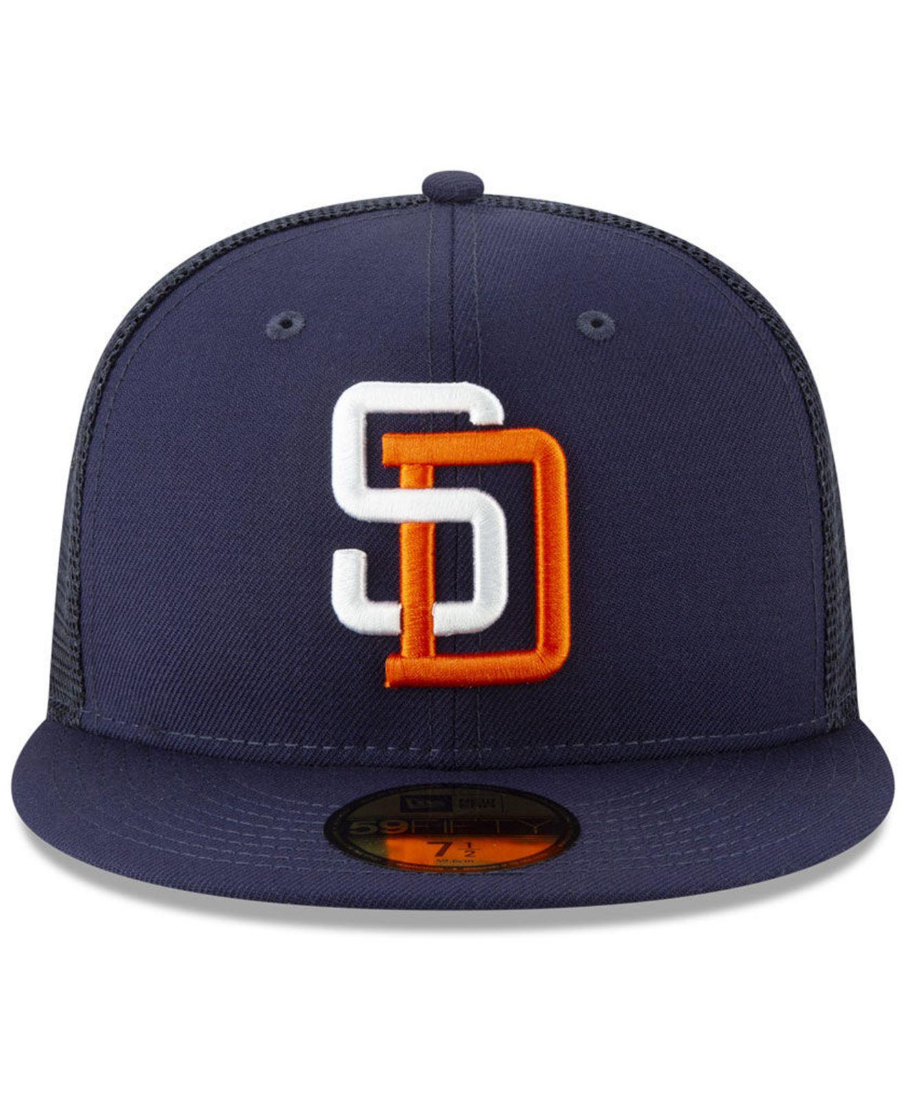 pretty nice c52ef 43b5f KTZ San Diego Padres Coop All Day 59fifty-fitted Cap in Blue for Men - Lyst