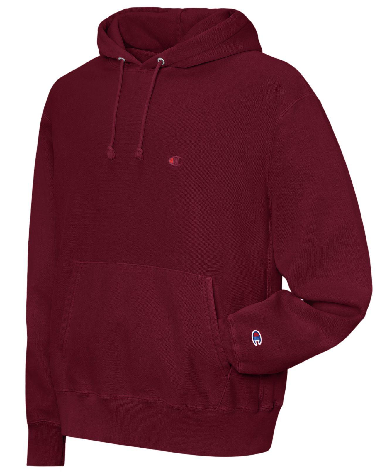 05a59d63ab73e9 Lyst - Champion Garment-dyed Reverse Weave® Hoodie in Red for Men