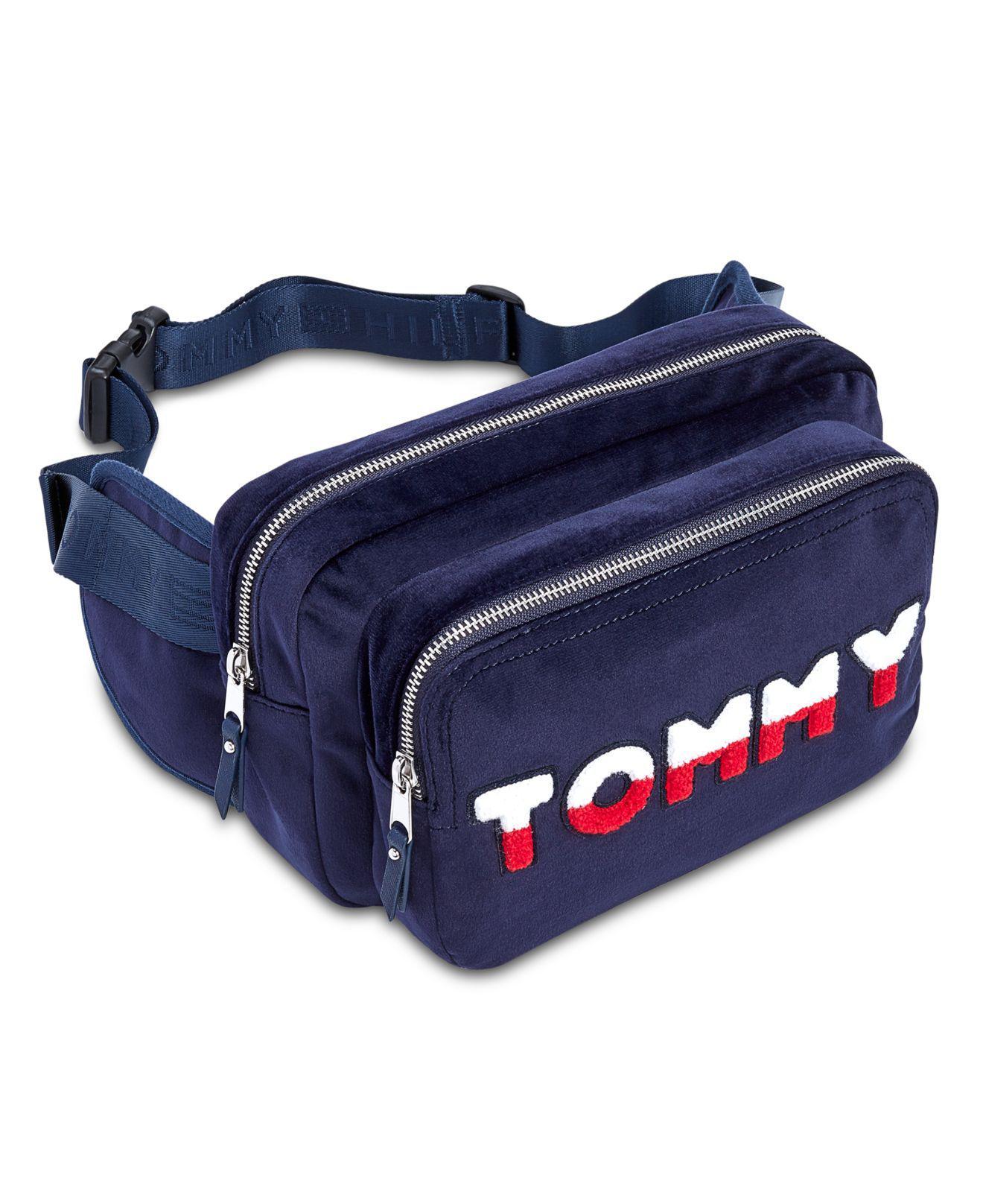 63aa83dc Tommy Hilfiger Tommy Velvet Convertible Belt Bag in Blue - Lyst