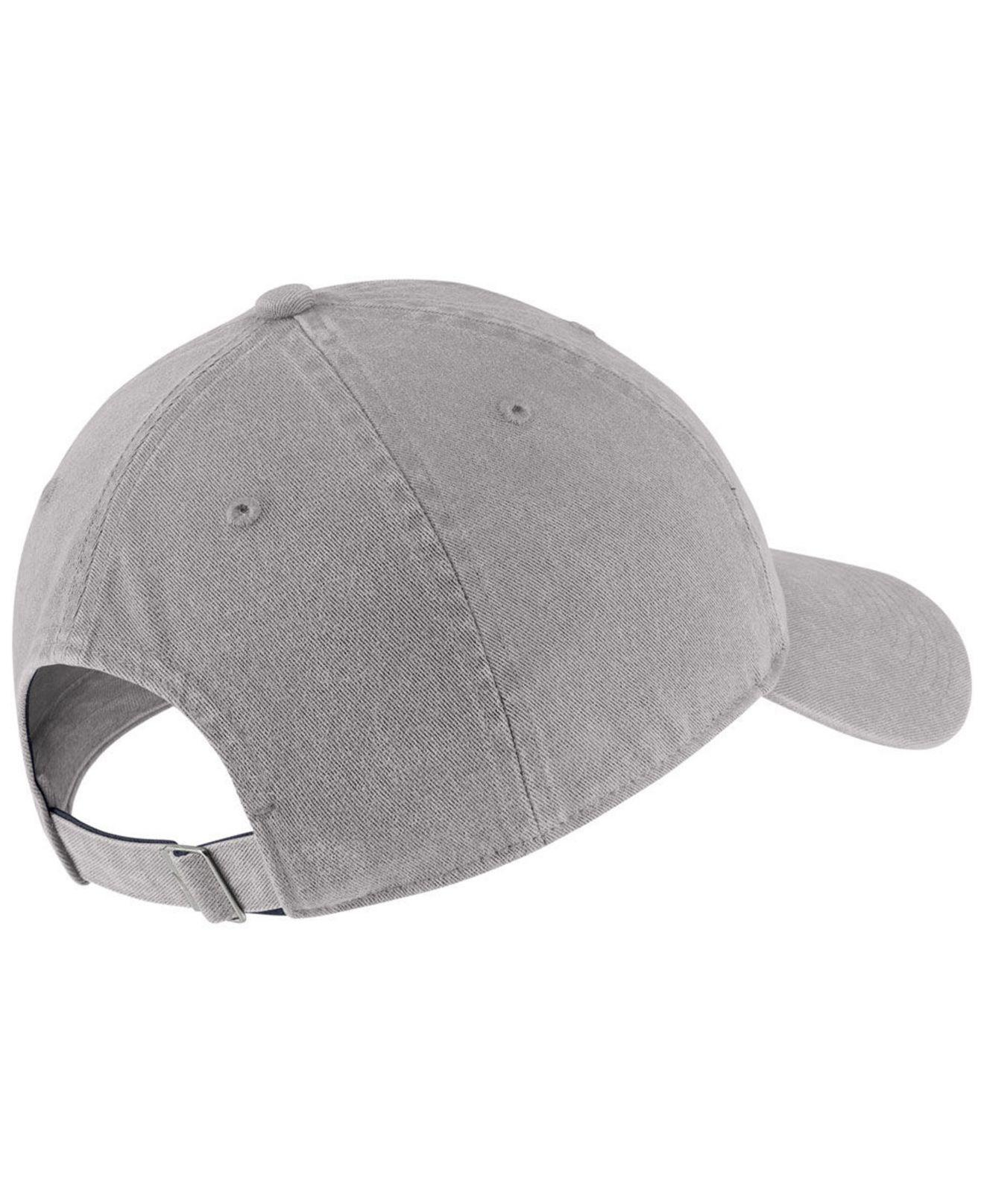 41f602f47af Lyst - Nike West Virginia Mountaineers H86 Washed Strapback Cap in Gray for  Men