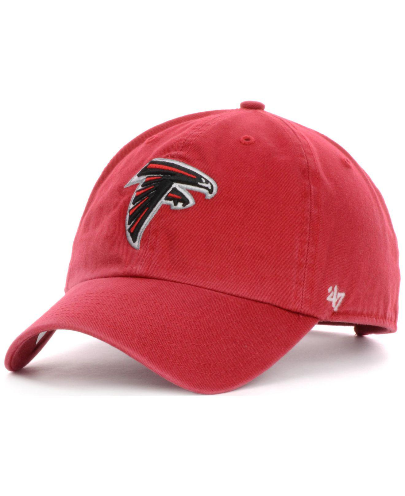brand new aec42 73bca 47 Brand - Red Atlanta Falcons Clean Up Cap for Men - Lyst. View fullscreen