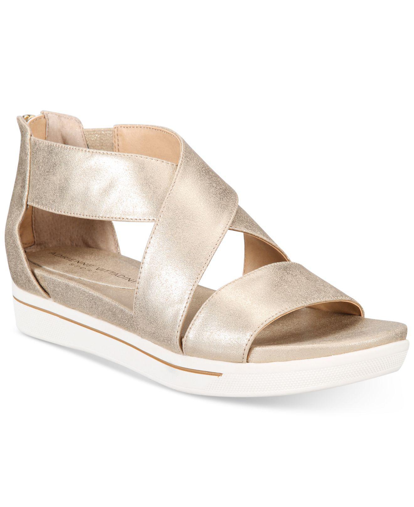 3e965eb142d Lyst - Adrienne Vittadini Claud Sport Flatform Sandals in Metallic