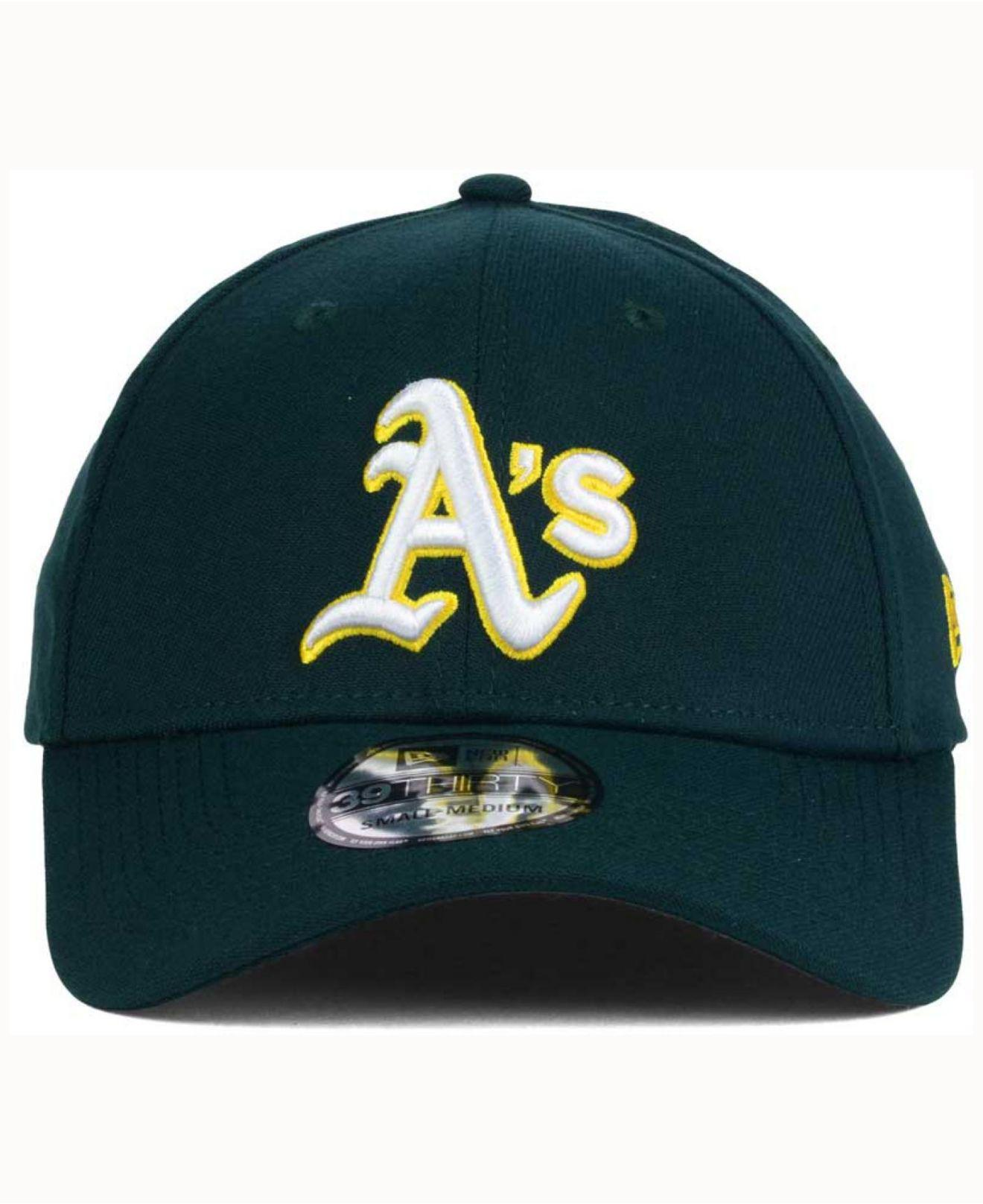 detailed look ddb35 f079b ... mlb upright yellow snap dub 9fifty snapback cap d9dd2 c8c30  where can  i buy lyst ktz oakland athletics coop 39thirty cap in green for men 19852