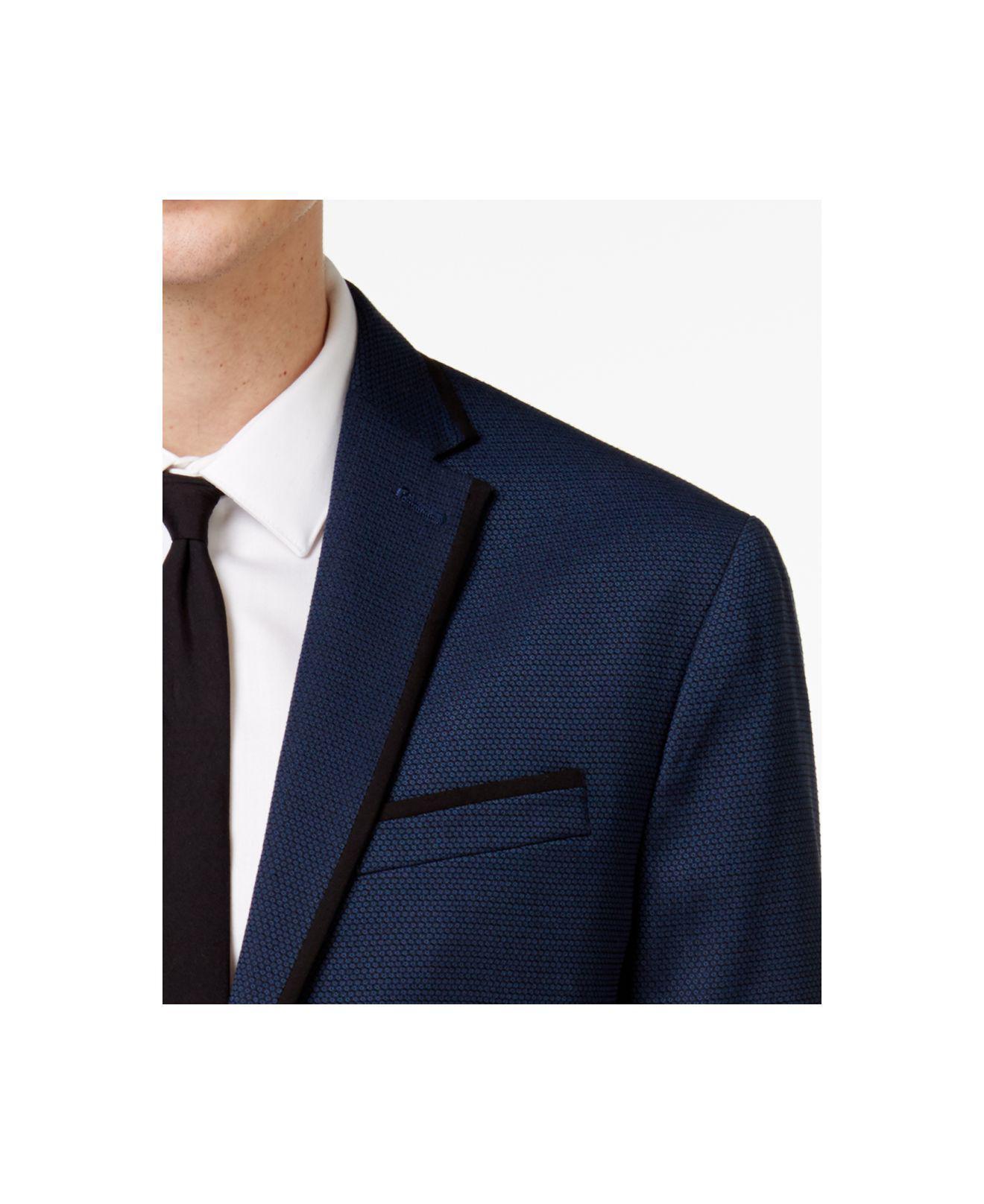 Lyst - Kenneth Cole Reaction Men s Slim-fit Blue Birdseye Dinner Jacket in  Blue for Men ce953c0f7