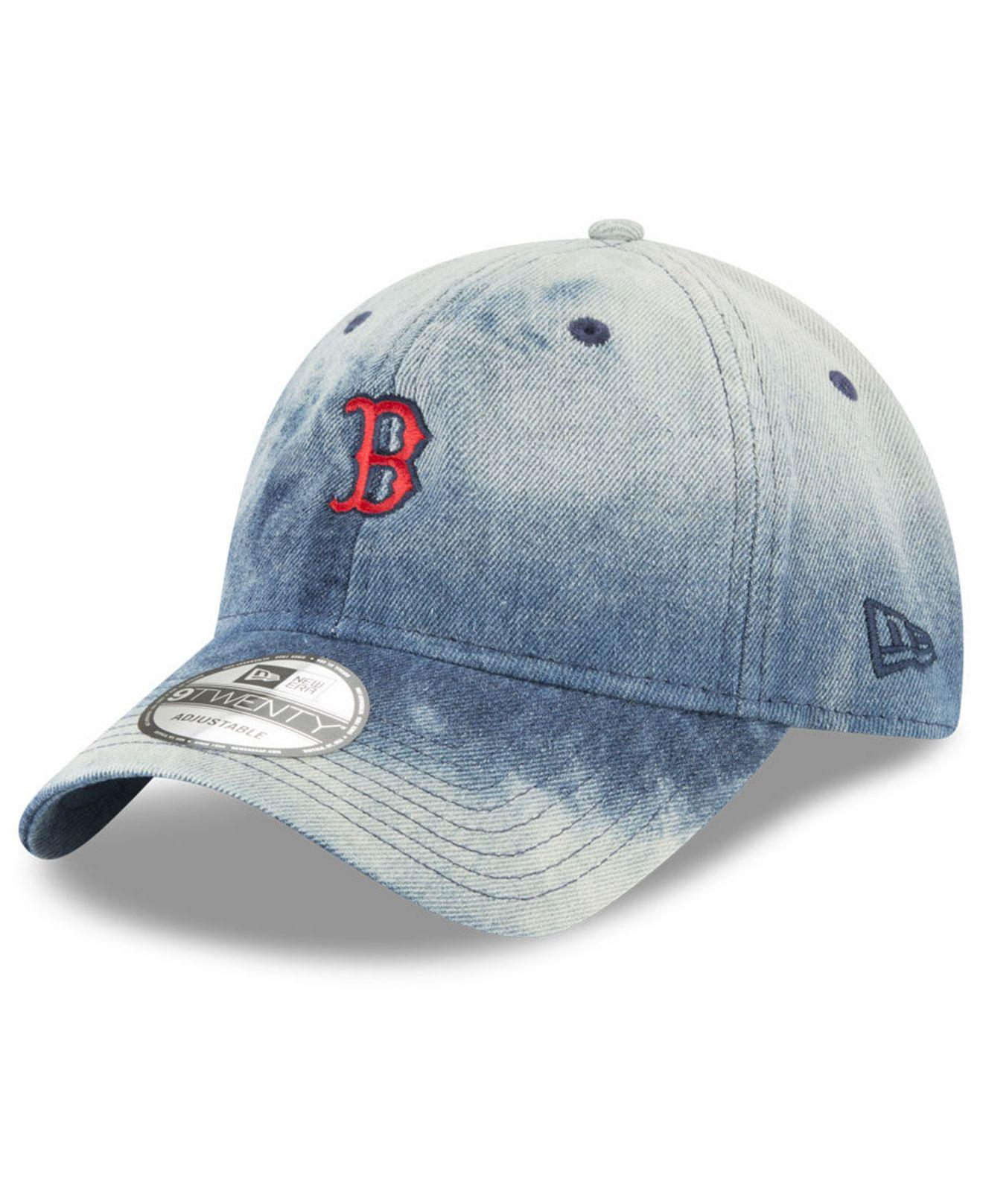 cheap for discount bc0b0 e19a7 ... new zealand ktz. mens blue boston red sox denim wash out 9twenty cap  9c1fb d88f9