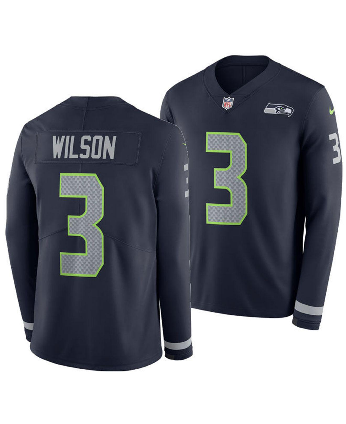 Lyst Nike Russell Wilson Seattle Seahawks Therma Jersey in Blue  for cheap