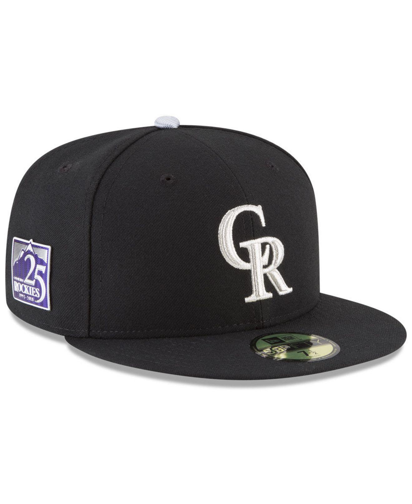 free shipping 5dc13 3af1e KTZ Colorado Rockies Authentic Collection 25th Anniversary 59fifty ...