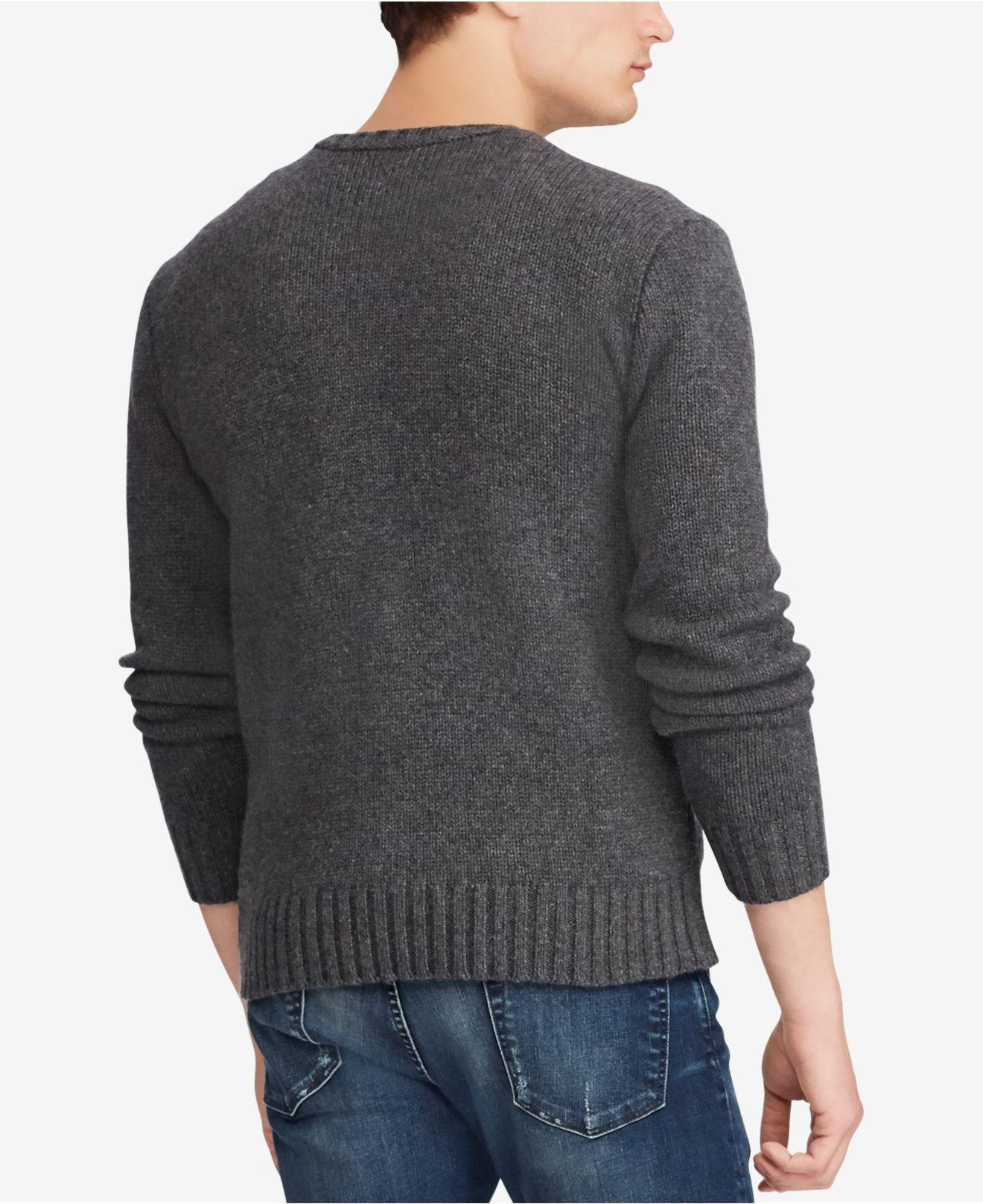 485dec4ee ... cheap lyst polo ralph lauren cashmere sweater in gray for men 9924b  accfa