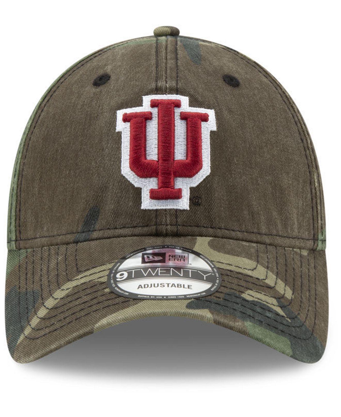 online store 4a6d9 3e2e1 Lyst - KTZ Indiana Hoosiers Woodland Classic Twill 9twenty Strapback Cap in  Green for Men