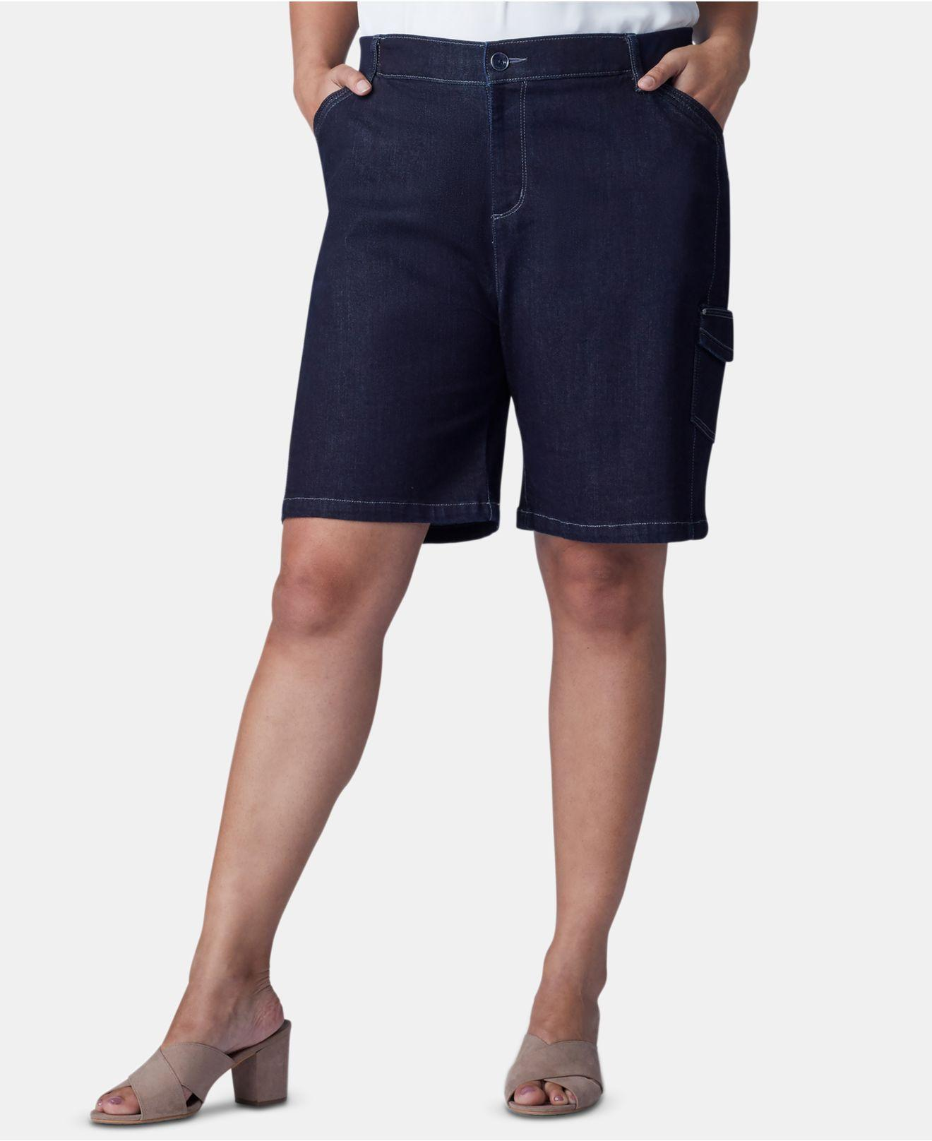 36bca6c8423 Lyst - Lee Platinum Plus Size Flex To Go Bermuda Cargo Shorts in Blue