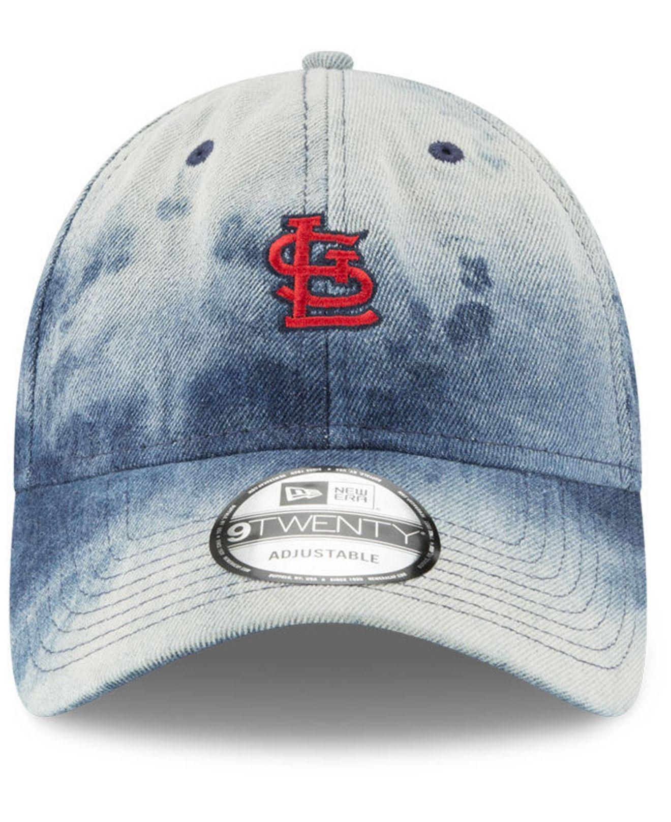 first rate 7dff9 aee0c ... coupon for lyst ktz st. louis cardinals denim wash out 9twenty cap in  blue for