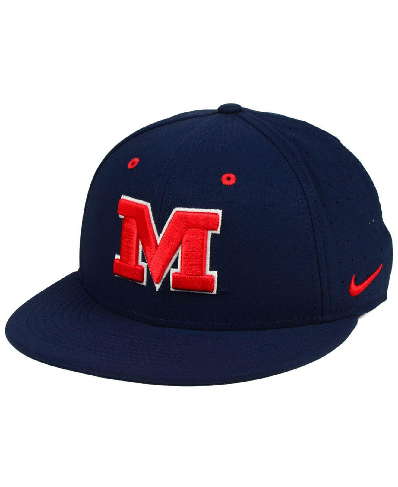 huge selection of 082a0 75204 ... coupon code for nike. mens blue ole miss rebels aerobill true fitted  baseball cap dc350
