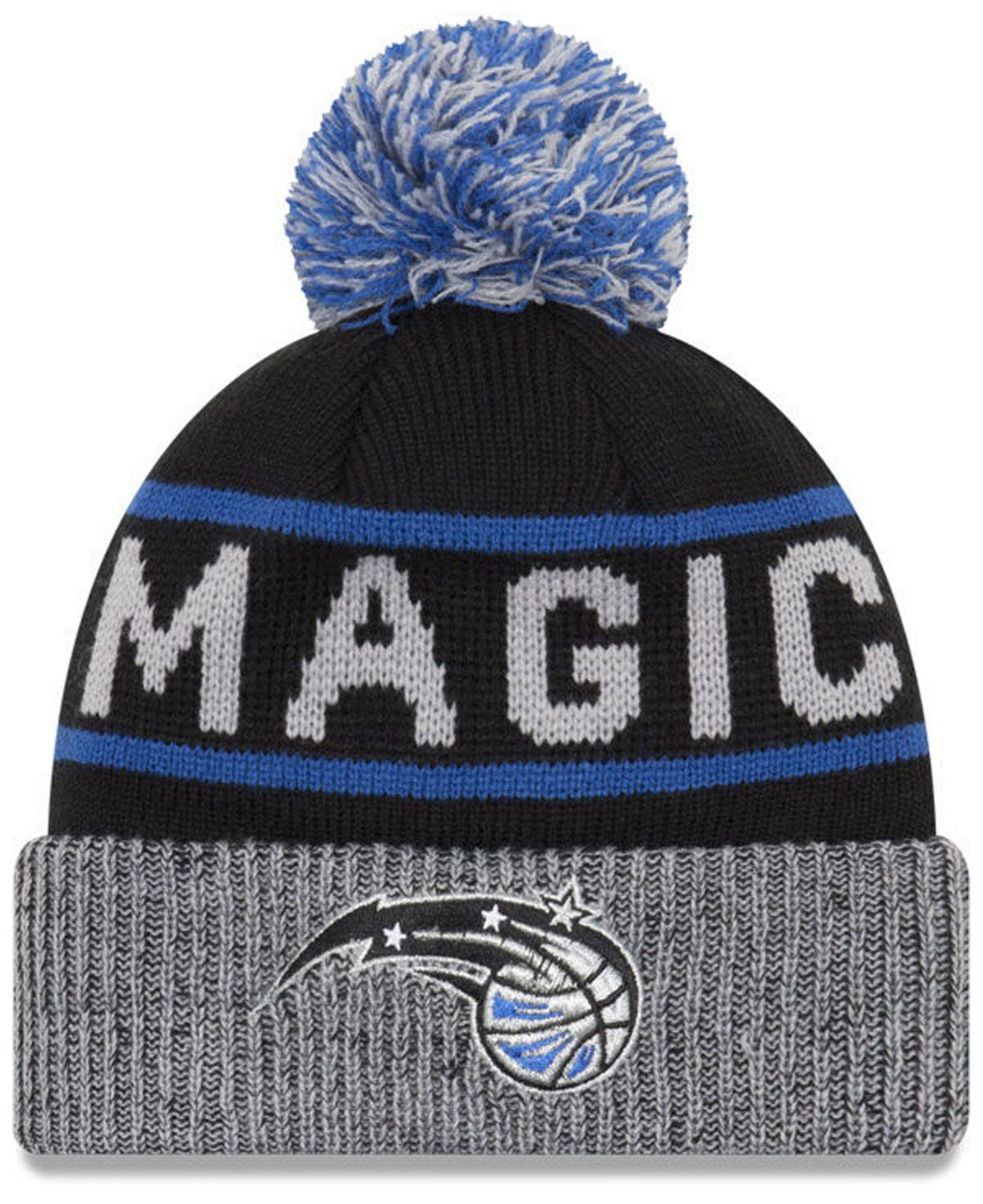 half off d8efe 209ec Lyst - Ktz Orlando Magic Court Force Pom Knit Hat in Black for Men