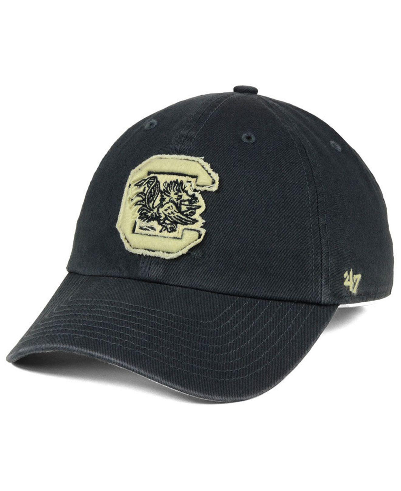 save off 5b6b4 7585f ... canada 47 brand. mens blue south carolina gamecocks double out clean up  cap f8c9a 97b7c