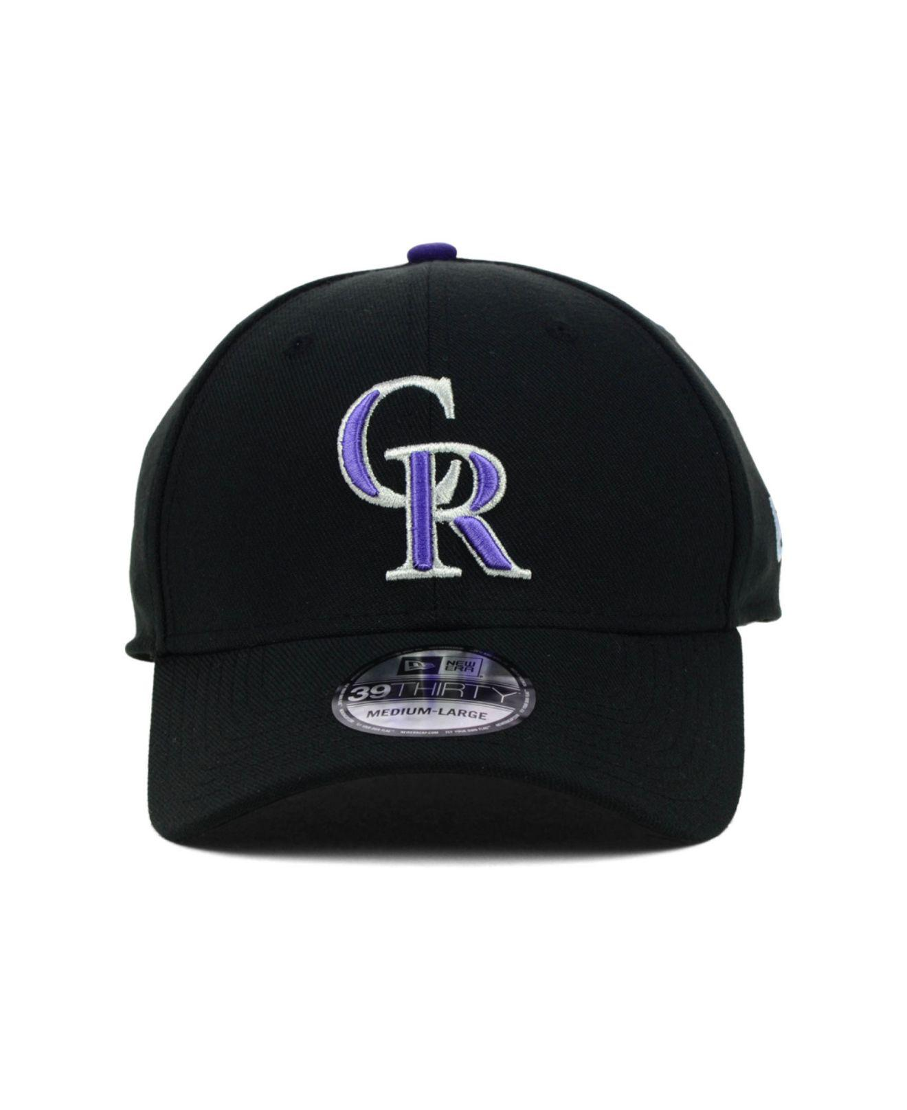 sports shoes a3532 5607c ... where to buy lyst ktz colorado rockies mlb team classic 39thirty cap in  black for men