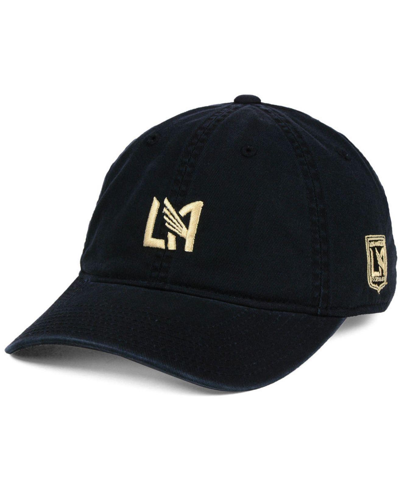 buy popular 4fa0d 1aa22 ... discount lyst adidas los angeles football club partial logo dad cap in  0d069 20da0
