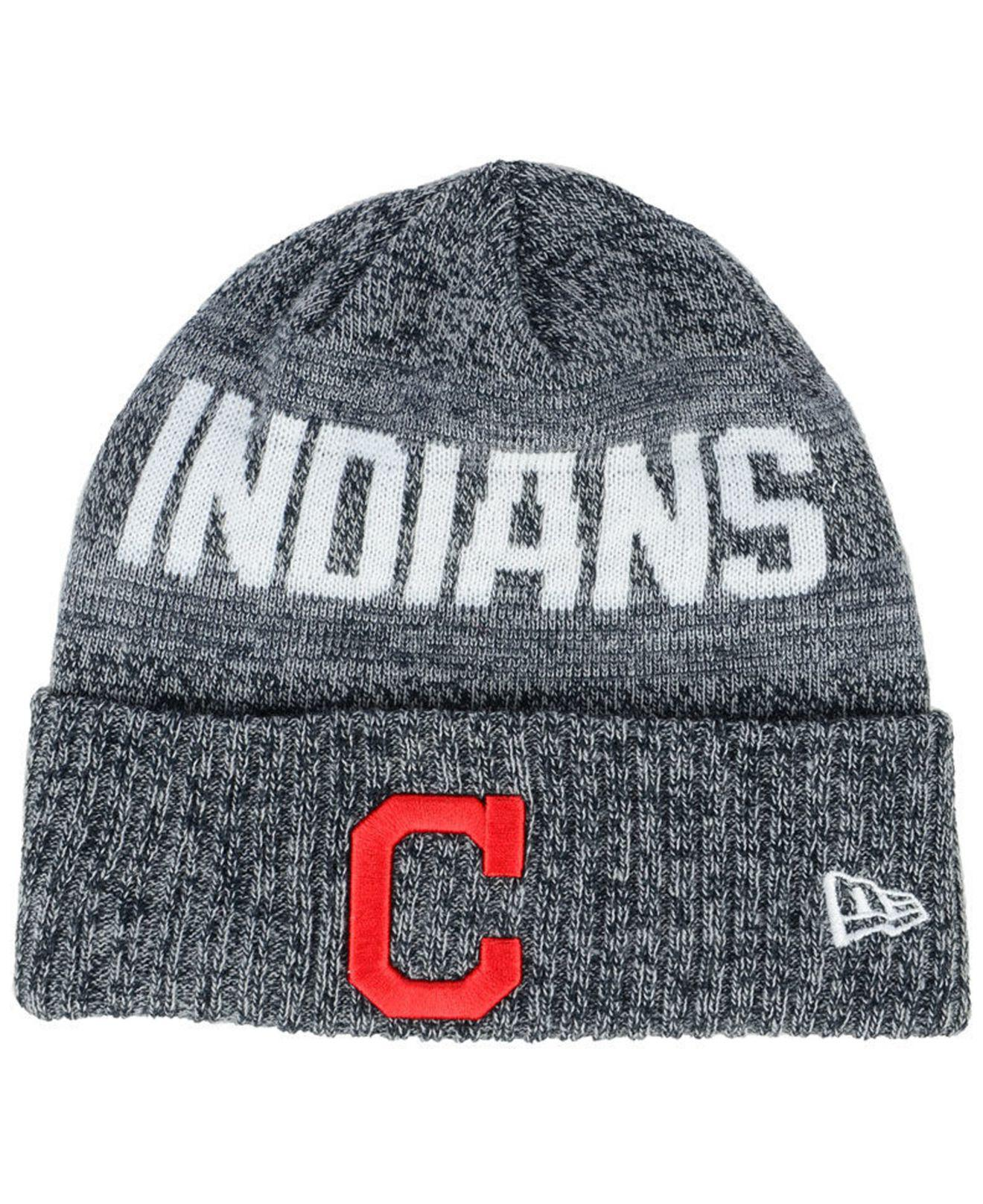 Lyst - Ktz Cleveland Indians Crisp Color Cuff Knit Hat in Blue for Men 49e5da3b7