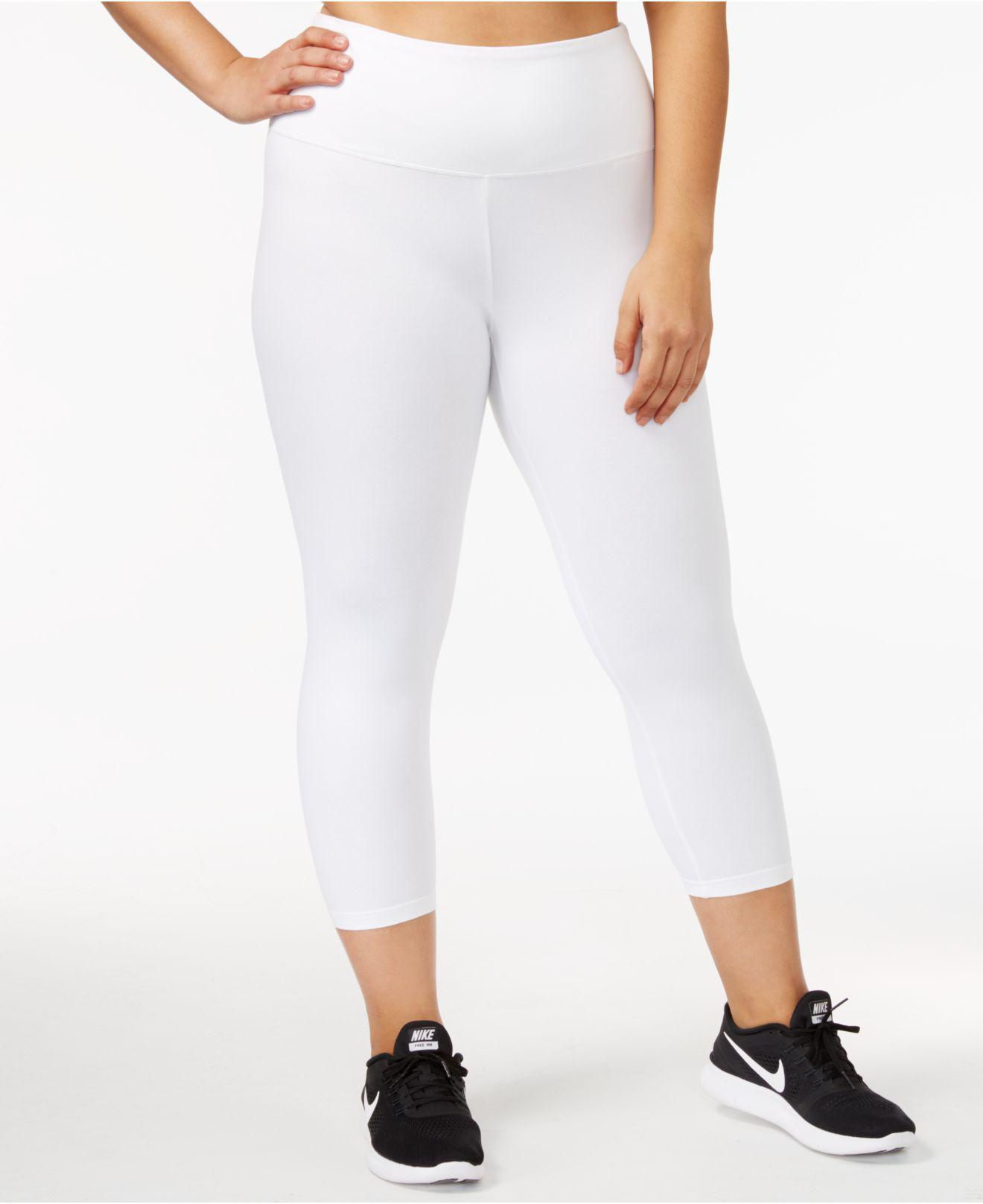 760dbb3769d01 Style & Co. Plus Size Tummy Control Yoga Leggings in White - Lyst