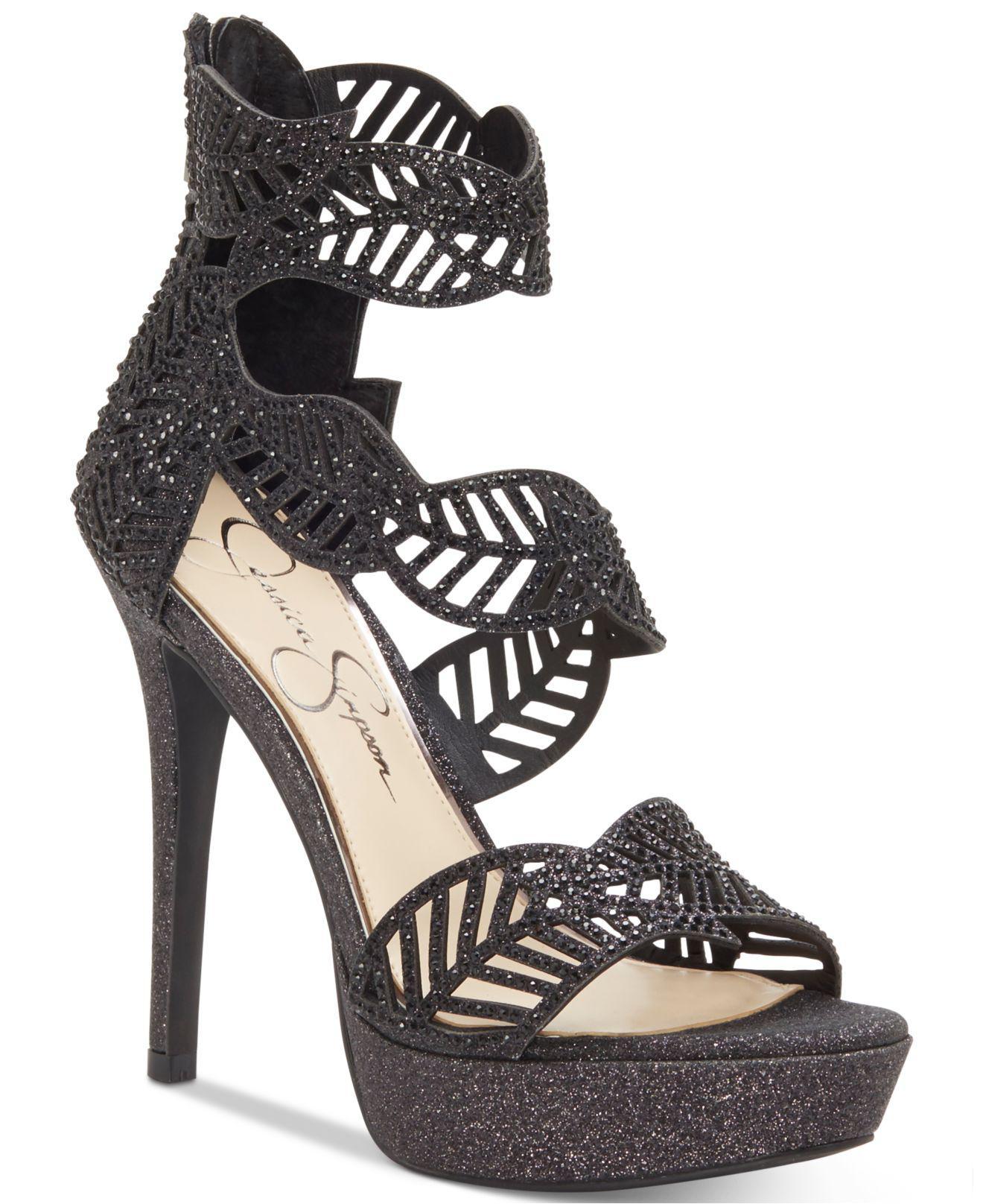 21666d4c567 Lyst - Jessica Simpson Bonilynn Platform Dress Sandals in Black